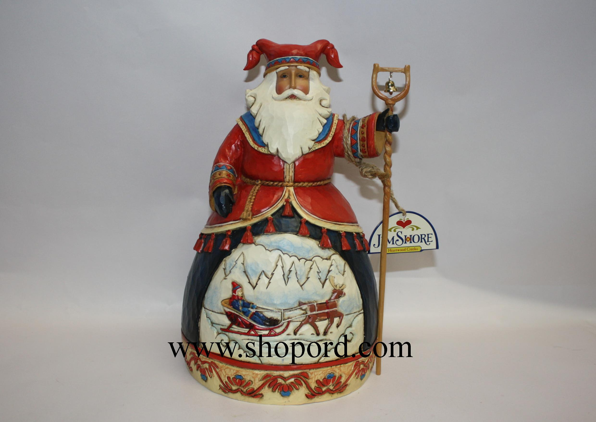 Jim Shore Dashing To A Merry Celebration Lapland Santa Sleigh Scene 5th in The Lapland Santa Series Figurine 4025842