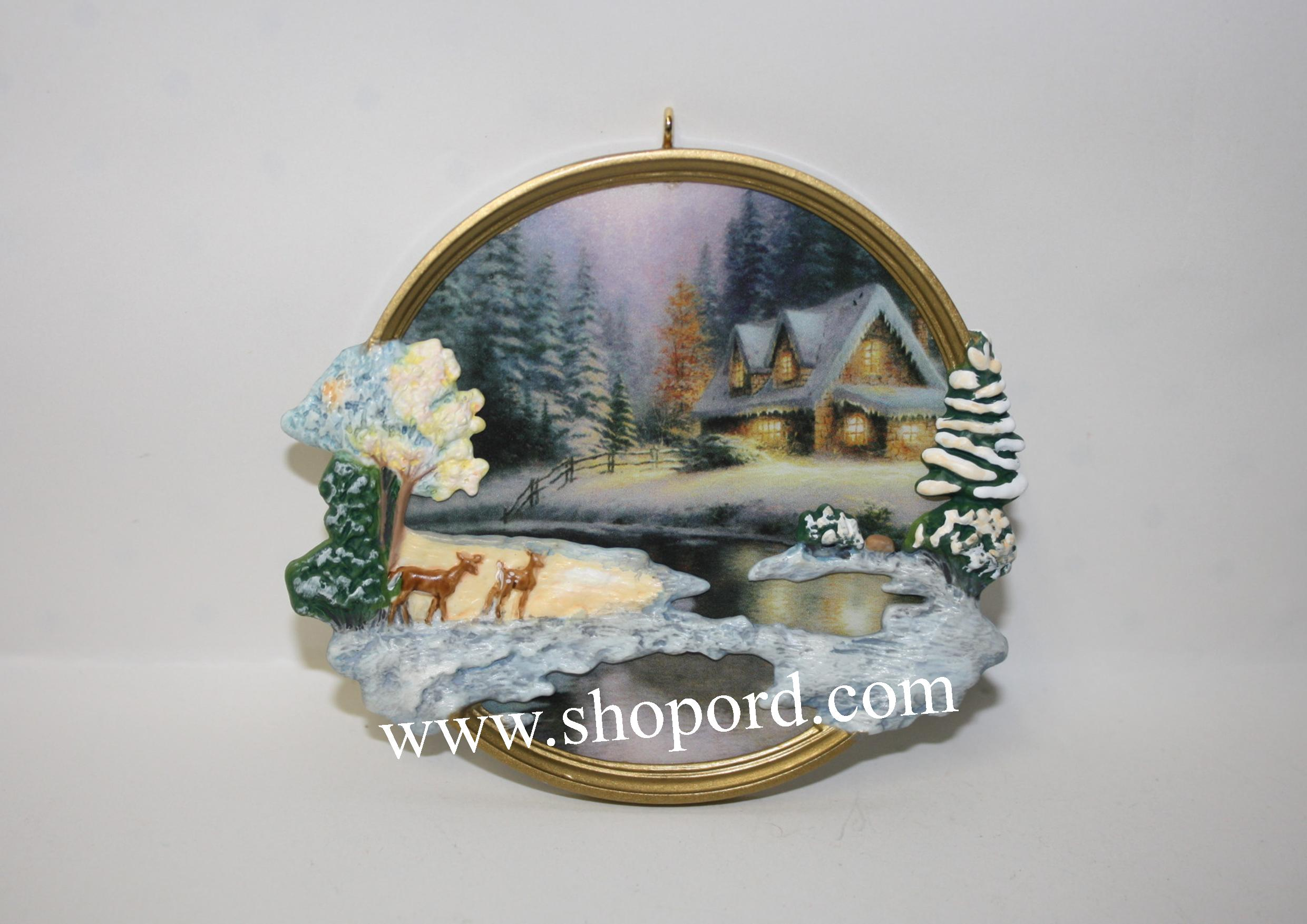 Hallmark 2002 Deer Creek Cottage Thomas Kinkade Painter Of Light QXI5276