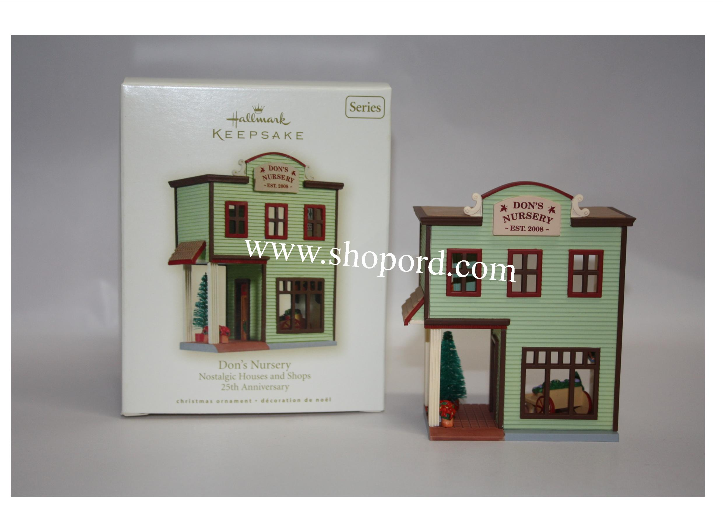 Hallmark 2008 Dons Nursery Ornament 25th in the Nostalgic Houses and Shops 25th Anniversary QX7101