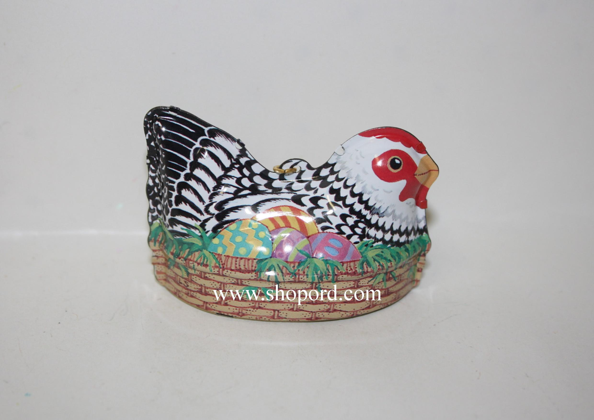 Hallmark 1999 Easter Egg Nest Spring Ornament Chicken QEO8427 Damaged Box
