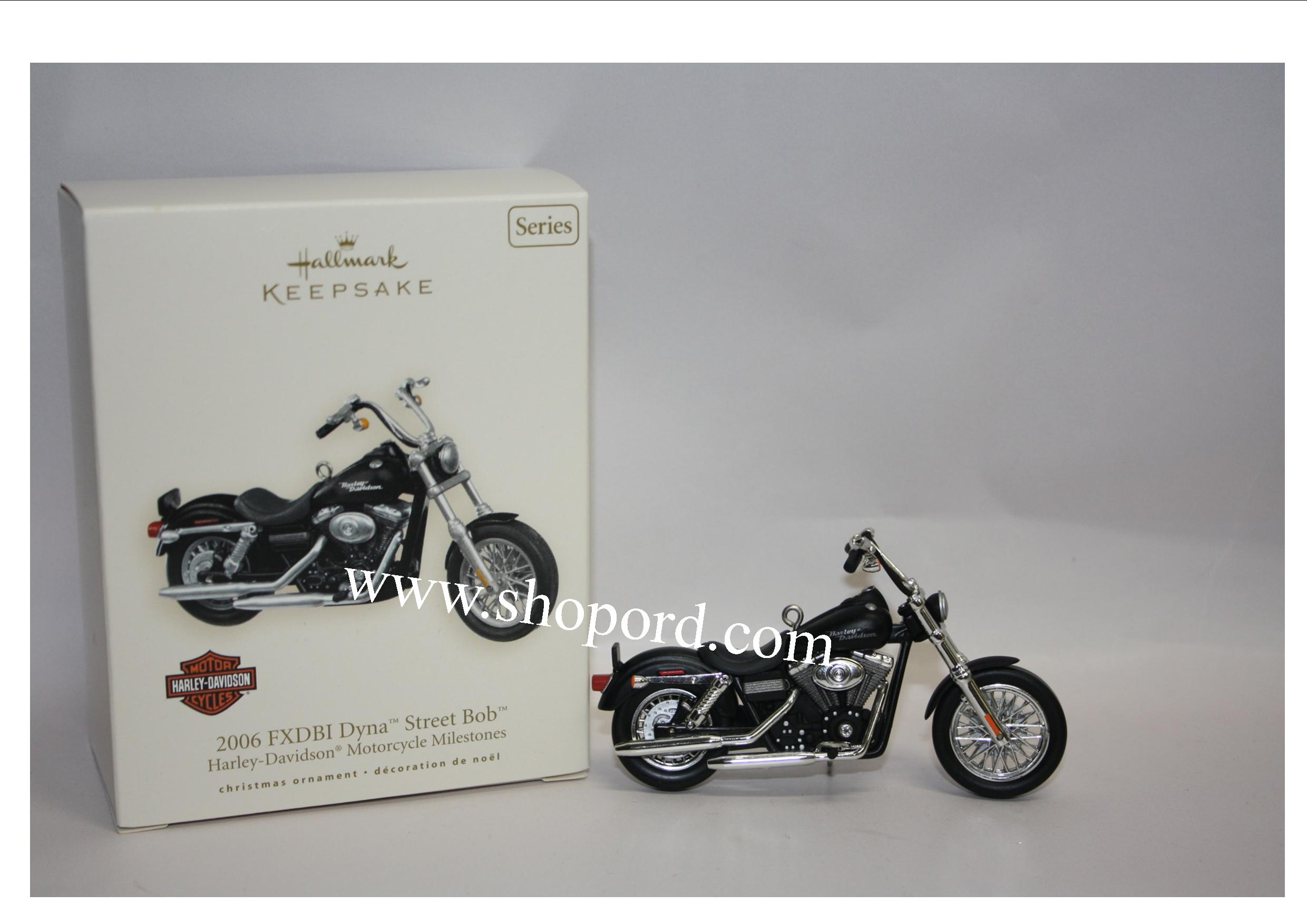 Hallmark 2007 FXDBI 2006 Dyna Street Bob Ornament Harley Davidson Motorcycles Milestones 9th in the series QX2349