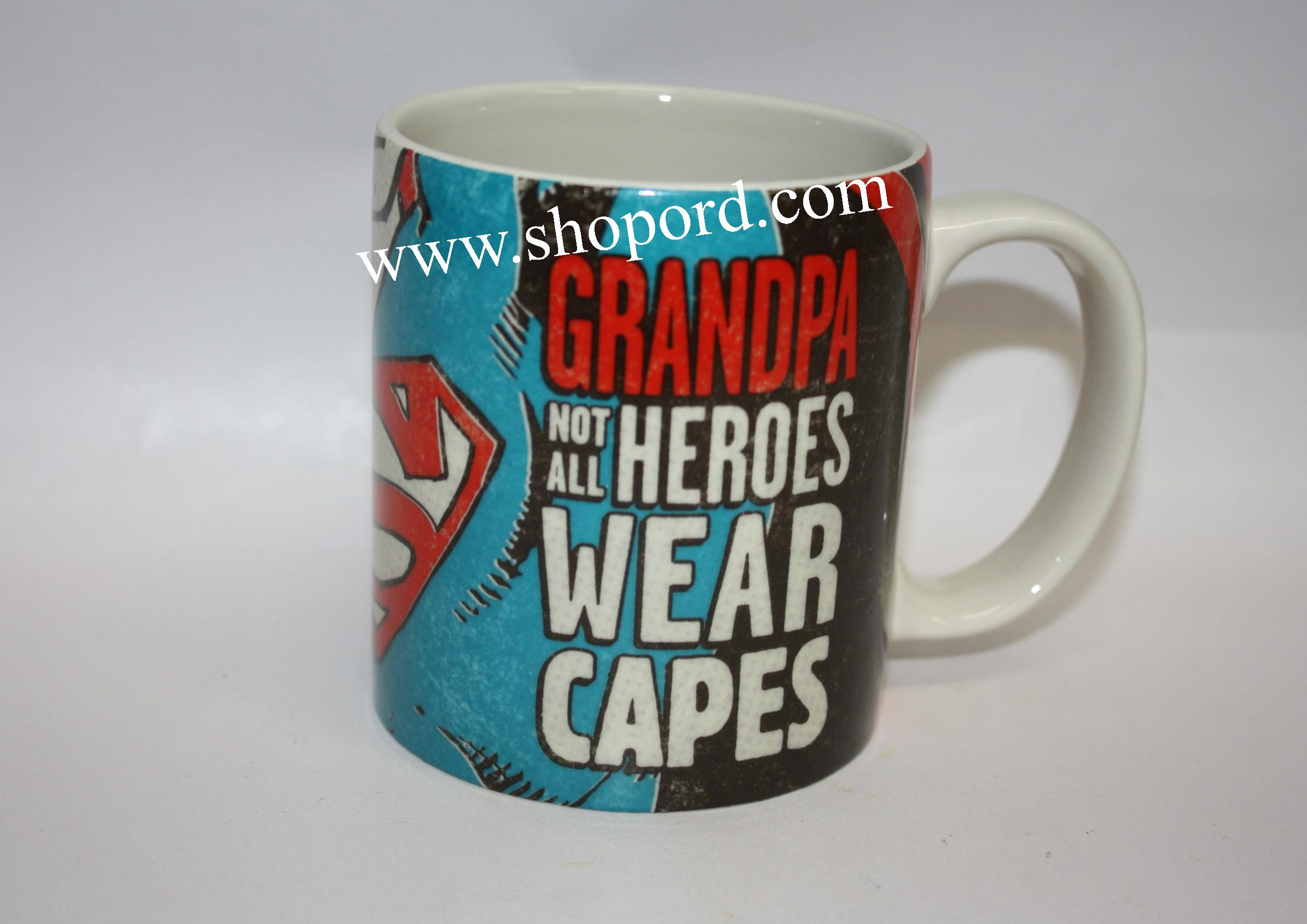 Hallmark Fathers Day Grandpa Not All Heroes Wear Capes 16 oz Mug LPR1634