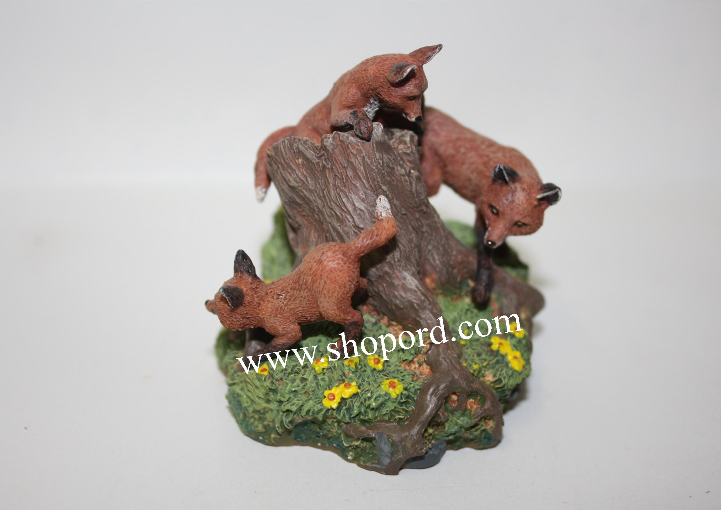 Hallmark 2000 Foxes In The Forest Ornament 4th and Final In The Majestic Wilderness Series QX6794