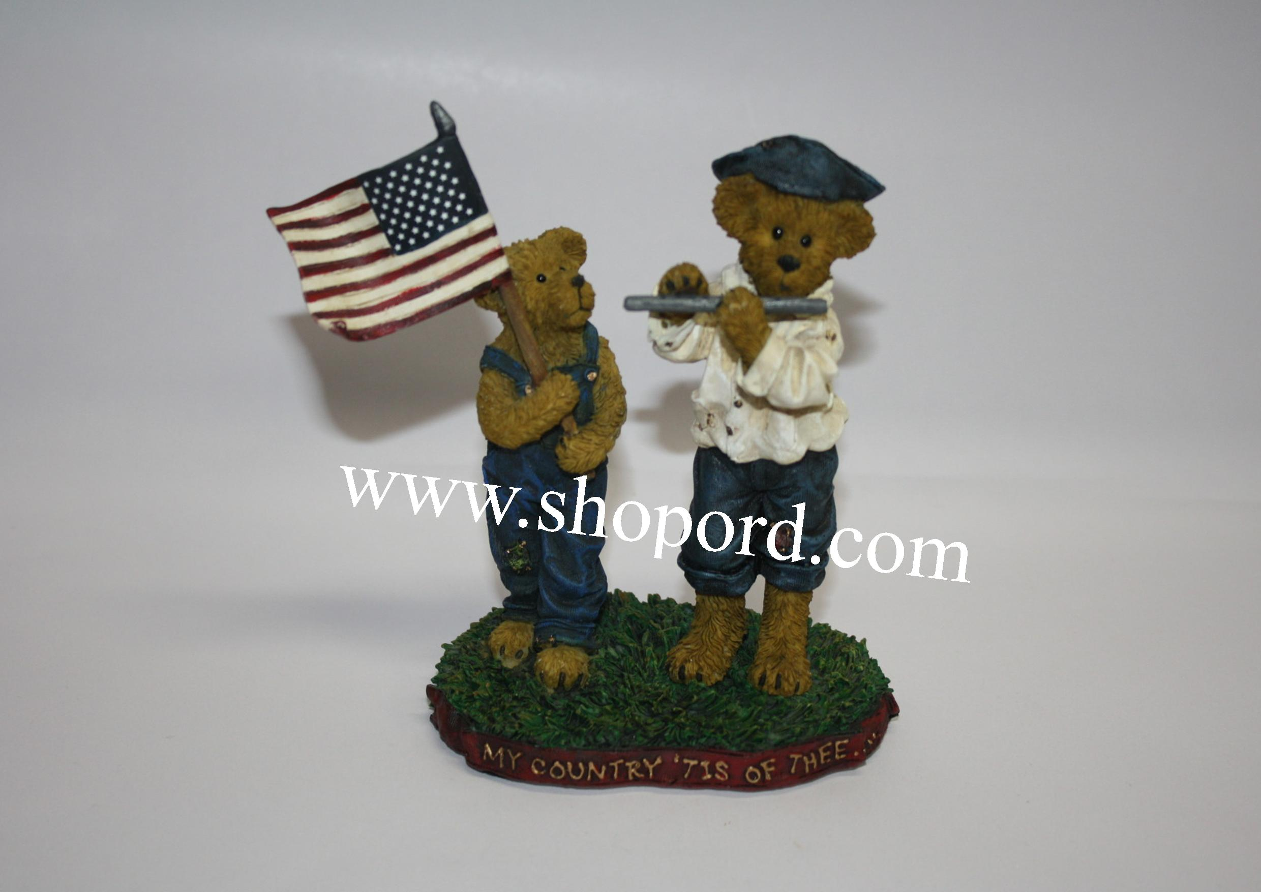 Boyds The Bearstone Collection - Frances t. Proudbeary with Patrick Henry (My Country tis of Thee) #4022167