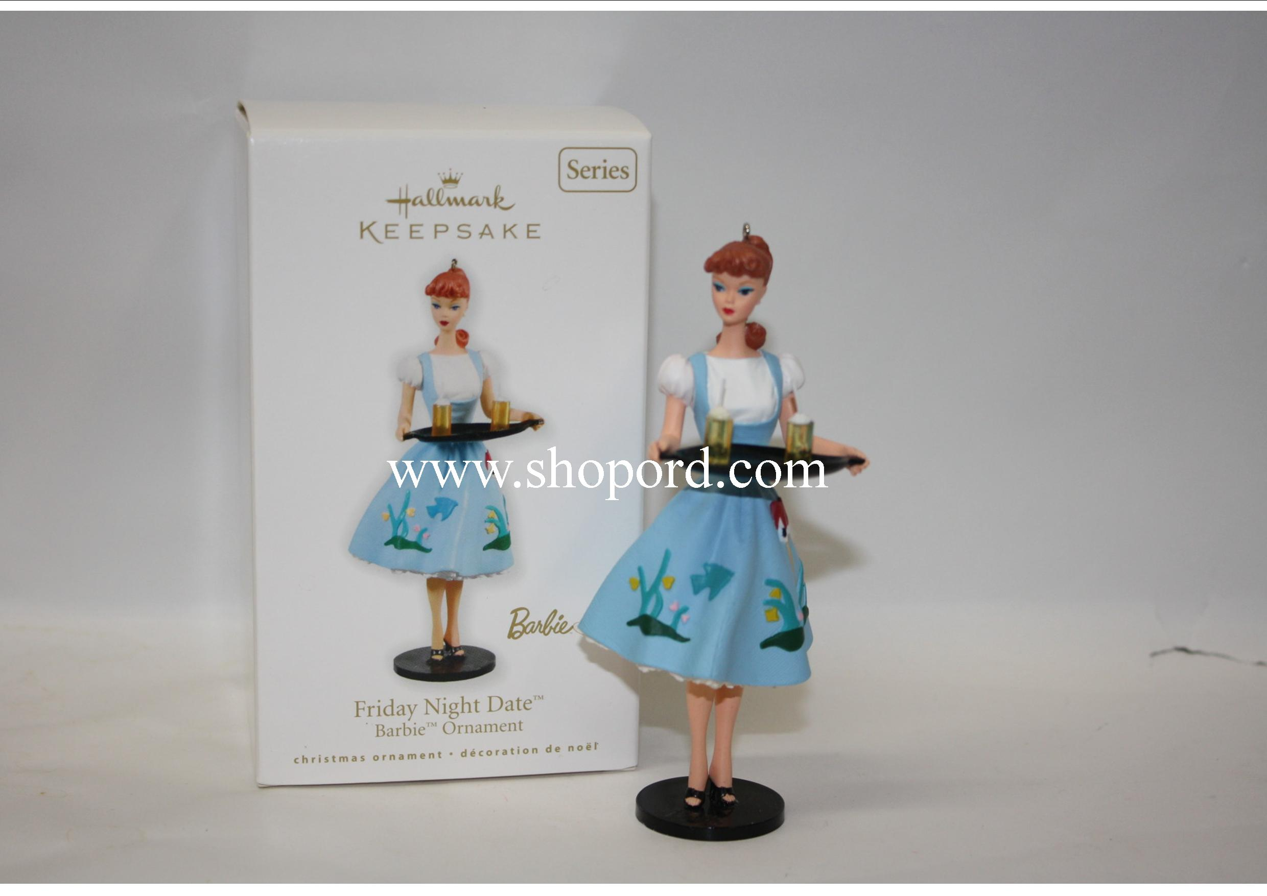 Hallmark 2010 Friday Night Date Barbie Ornament 17th in the Series QX8456