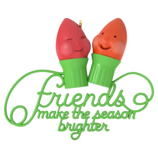 Hallmark 2016 Friends Make The Season Brighter Ornament QGO1141