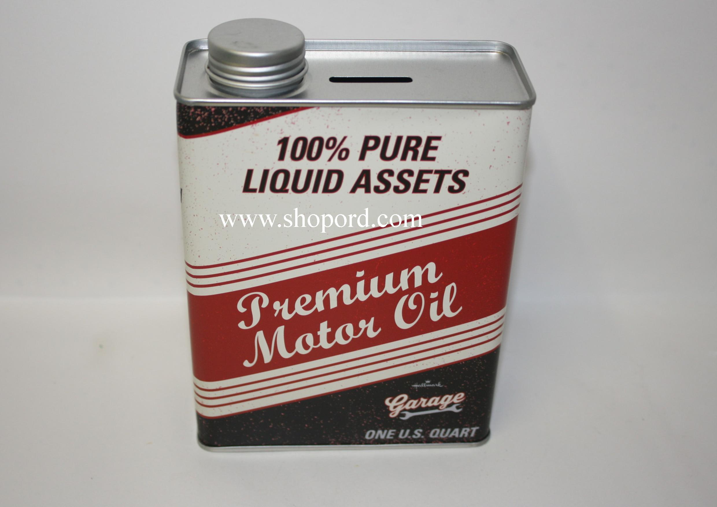 Hallmark Garage Premium Motor Oil Tin Bank KCK1013