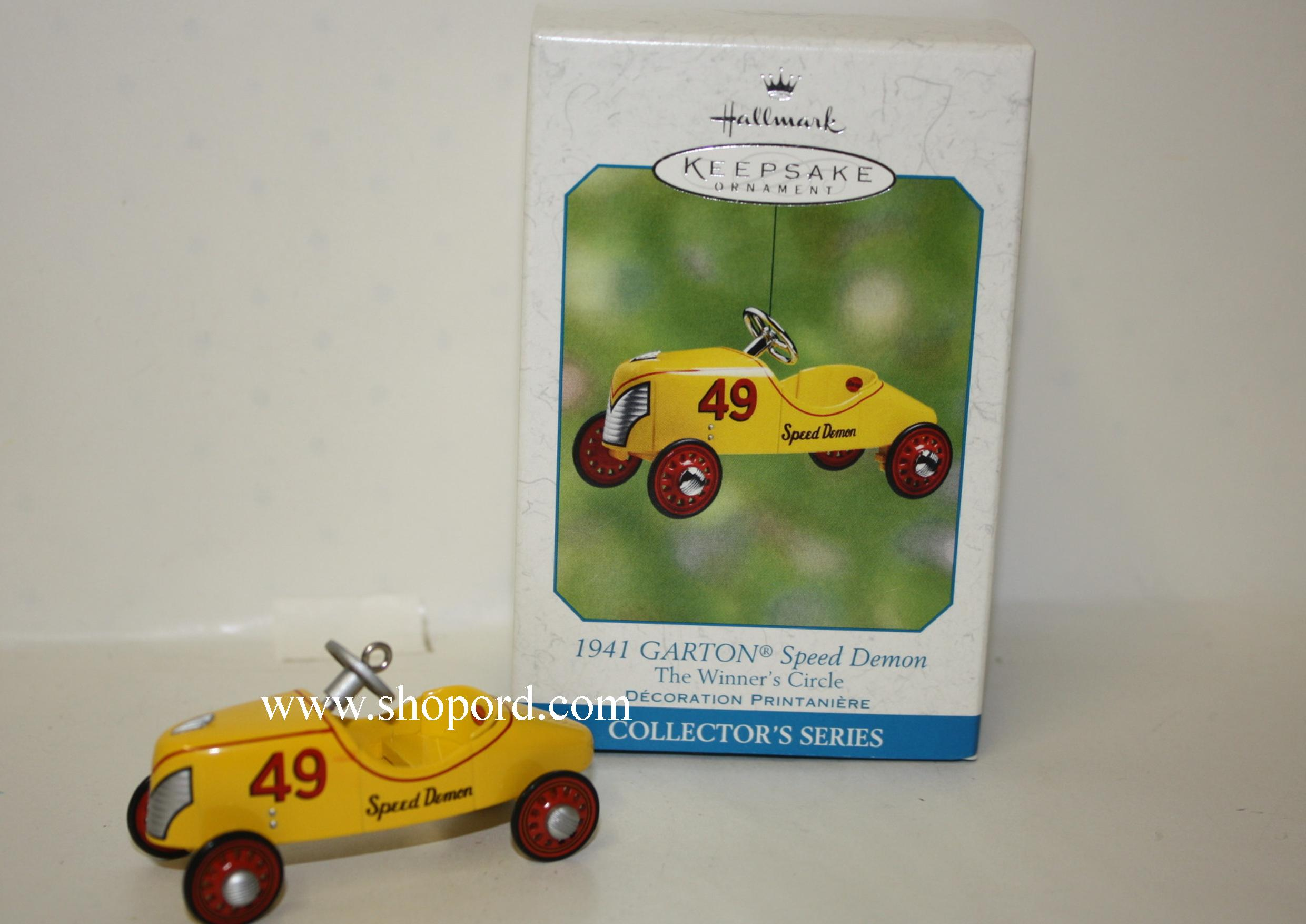 Hallmark 2002 Garton 1941 Speed Demon The Winners Circle Spring Ornament QEO8503