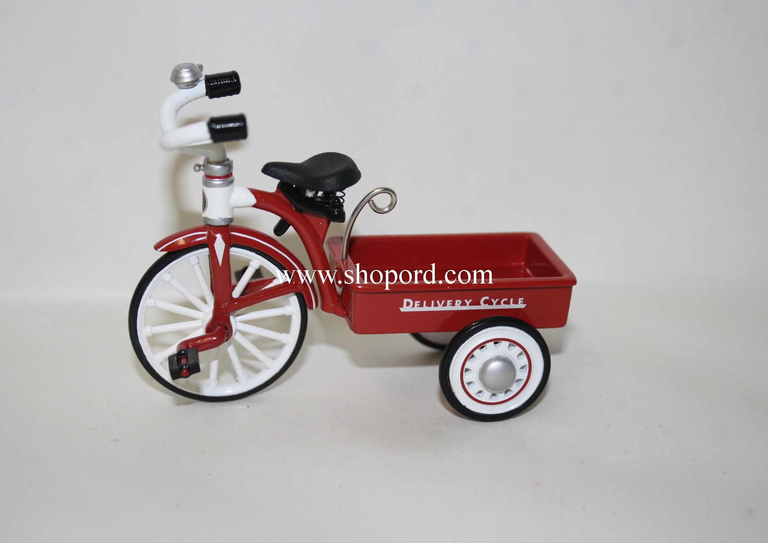 Hallmark 1999 Garton 1950 Delivery Cycle 3rd In The Sidewalk Cruisers Spring Ornament QEO8367 Damaged Box