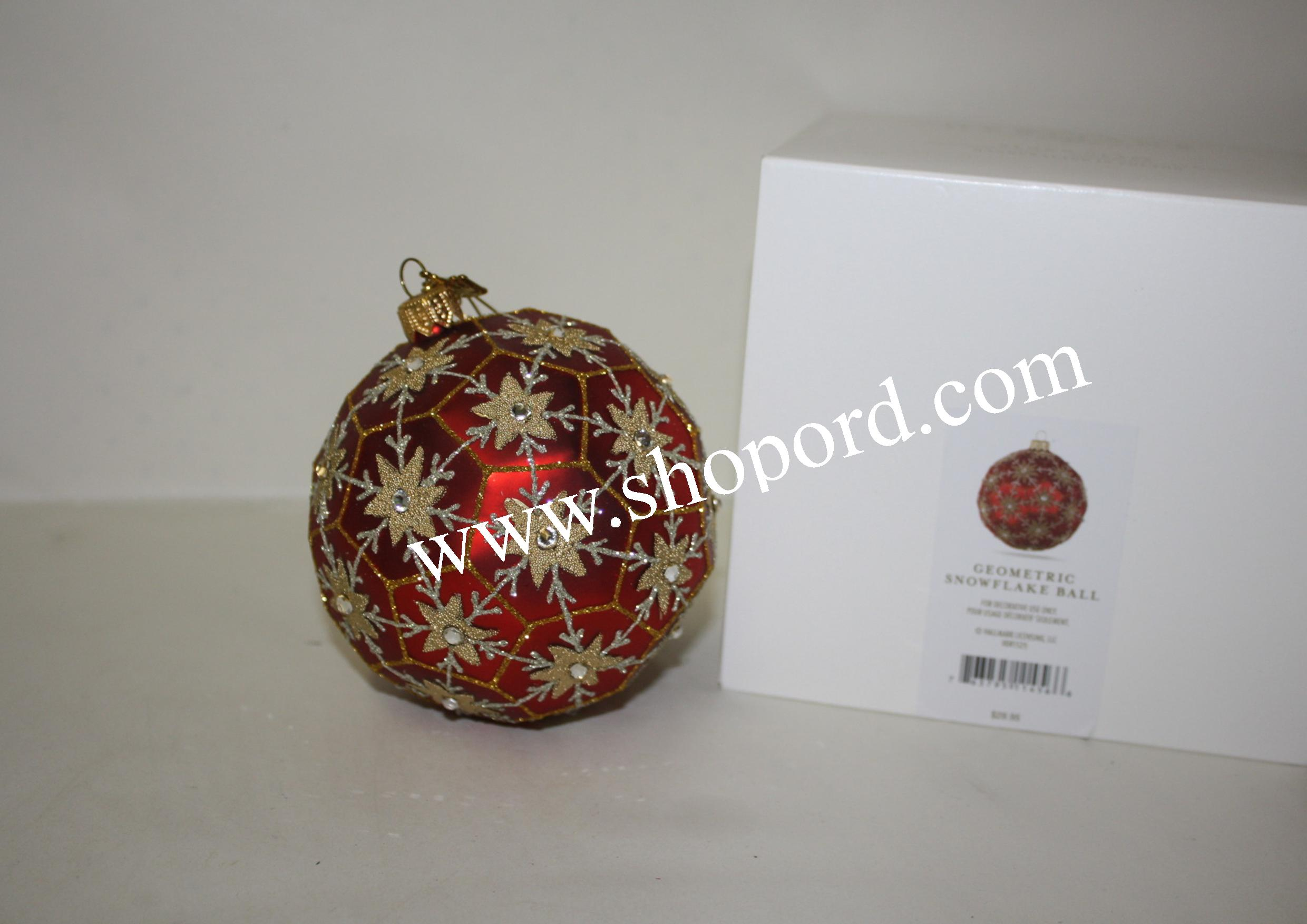 Hallmark 2016 Geometric Snowflake Ball Heritage Collection Ornament HDR1525 Damaged Box