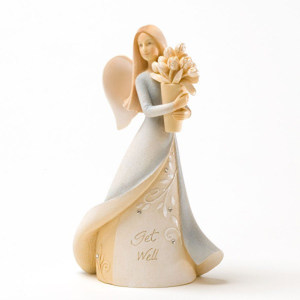 Enesco Foundations Get Well Mini Angel Figurine 4025642