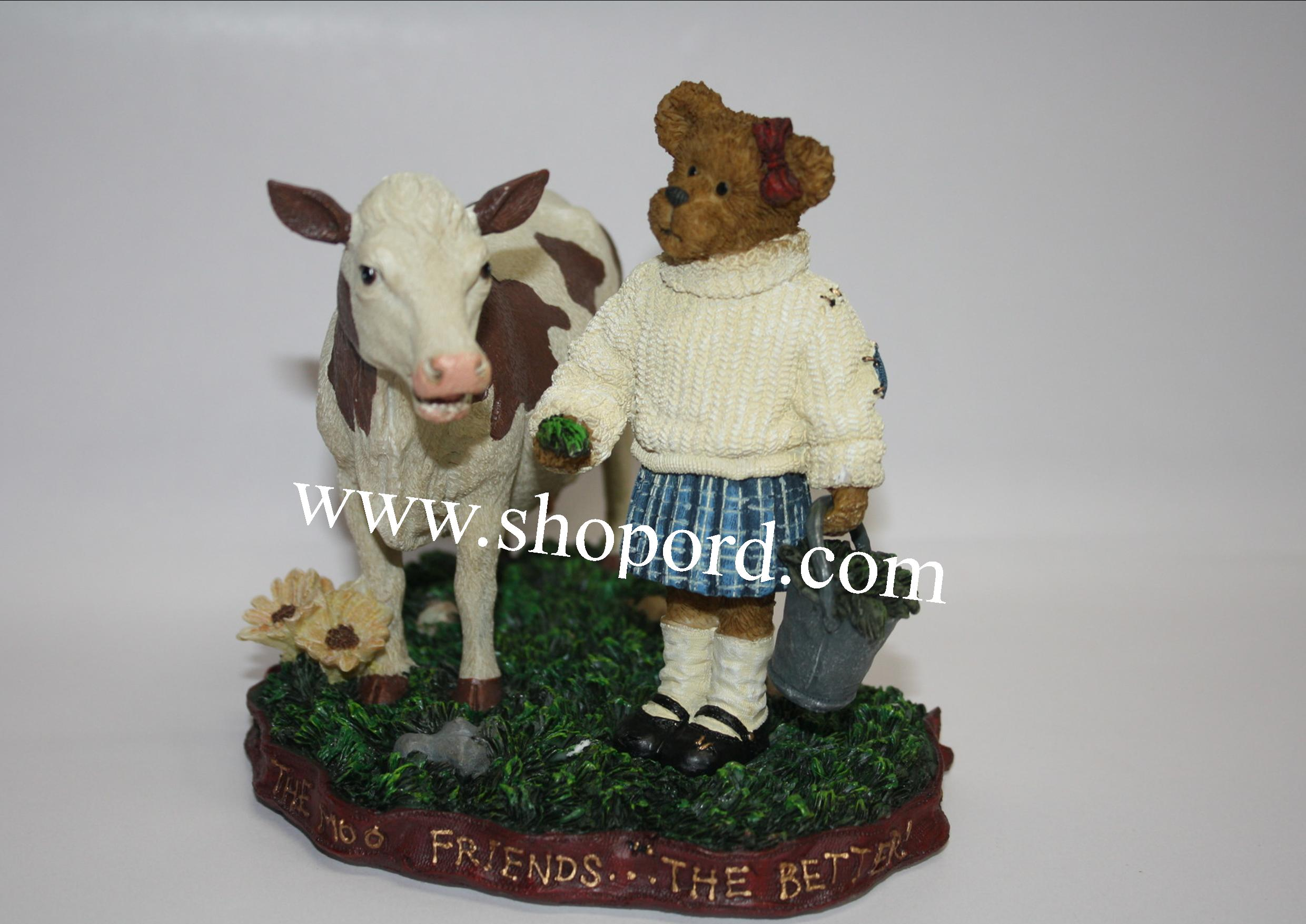 Boyds The Bearstone Collection - Ginny Mae McBearly with Bessie (Down Home Friends) #4022169