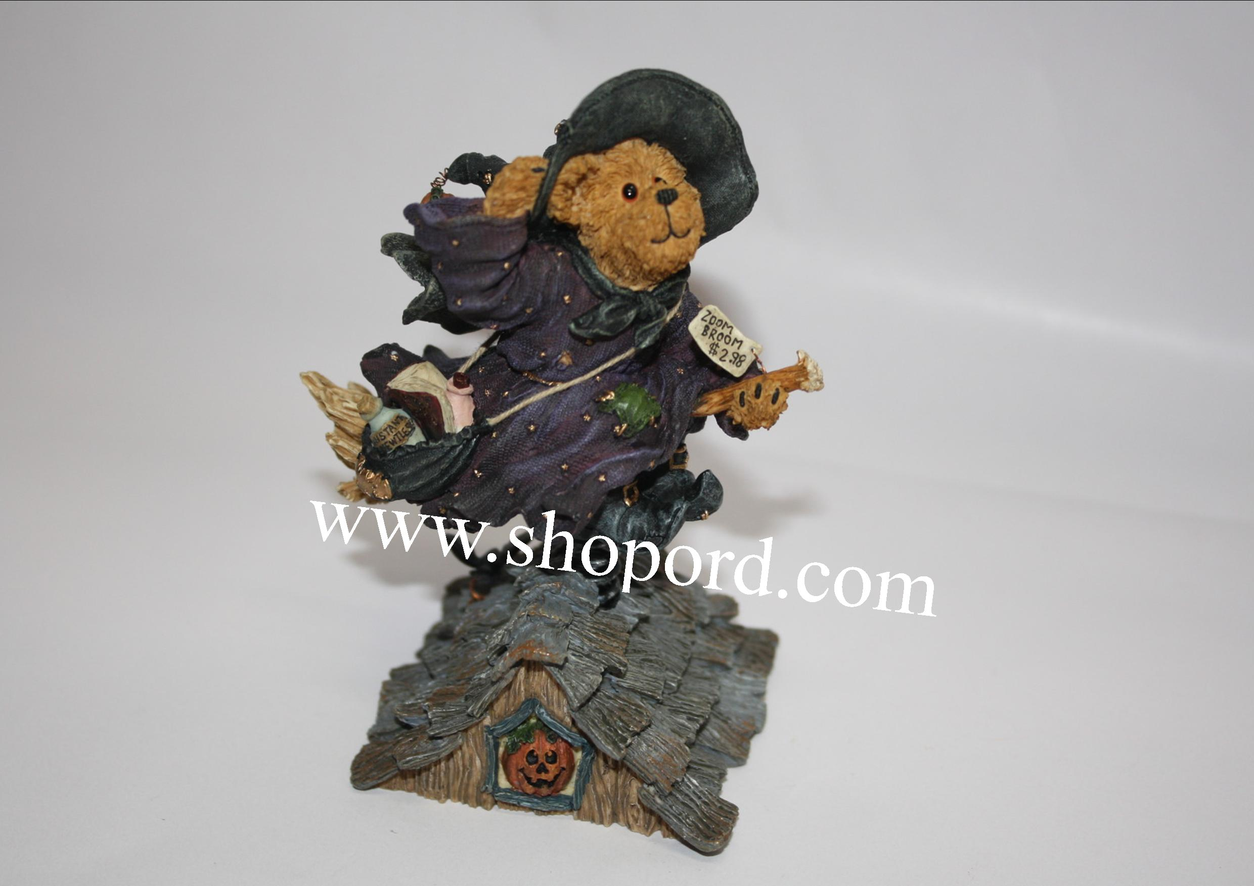 Boyds The Bearstone Collection - Griselda Broomster (Midnight Flight) Halloween #228382