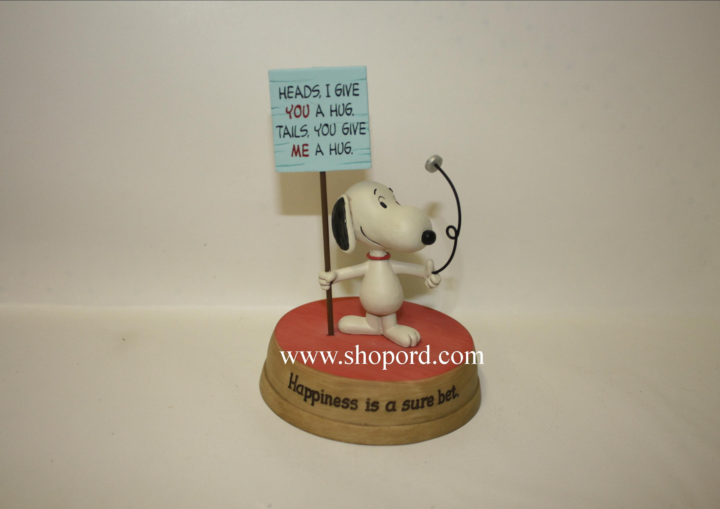 Hallmark Peanuts Happiness Is A Sure Bet Snoopy Figurine PAJ1152