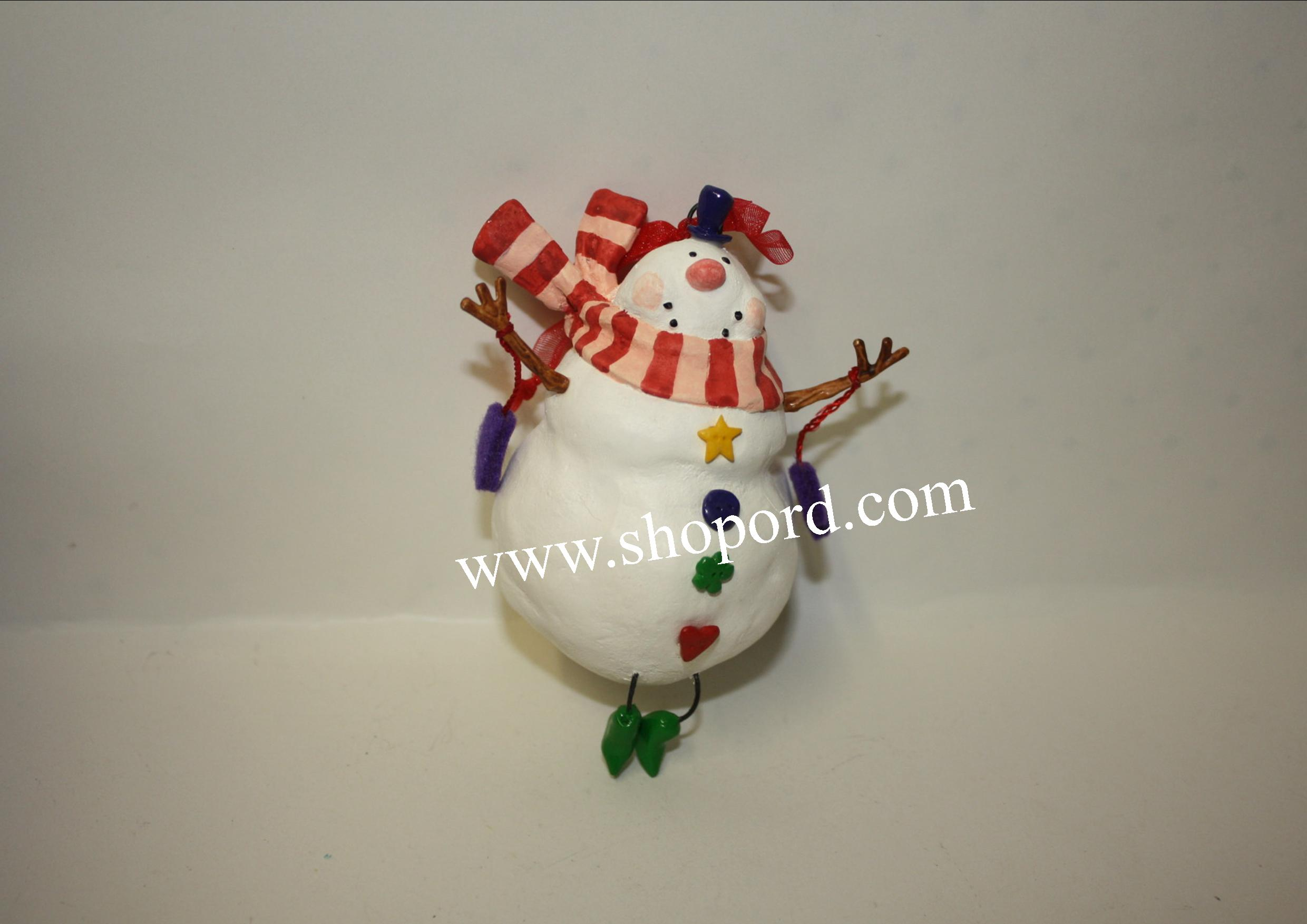 Hallmark 2001 Happy Snowman Ornament QX8942 Damaged Box