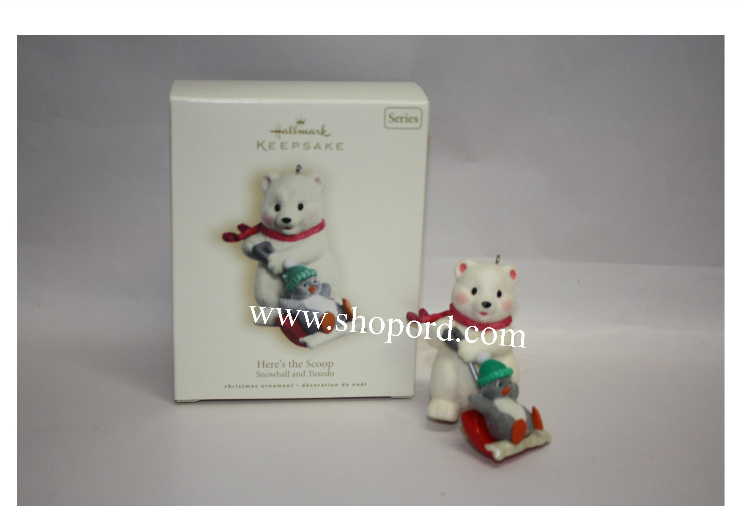 Hallmark 2007 Here's the Scoop Snowball and Tuxedo 7th in the series QX7139