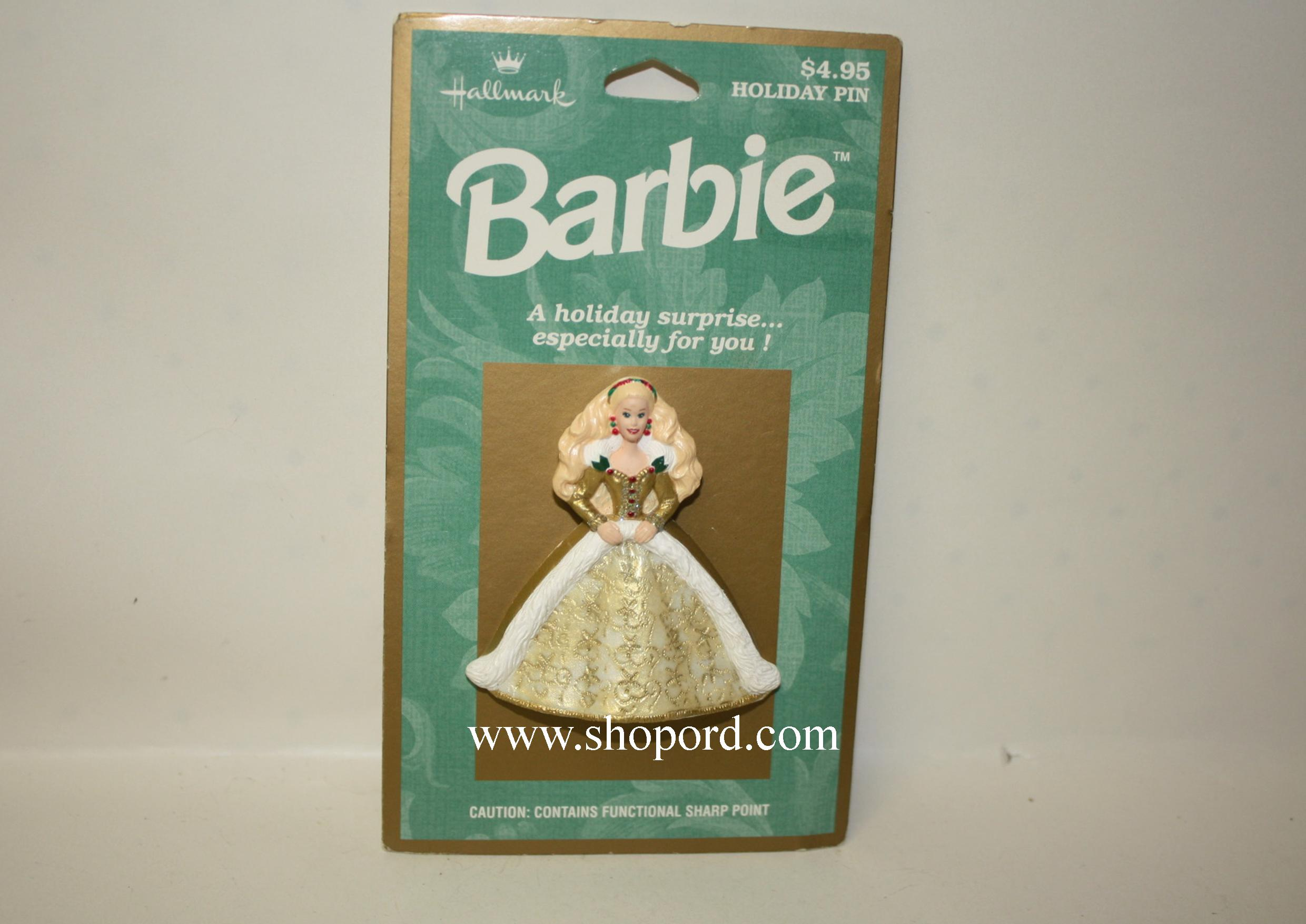Hallmark 1996 Holiday Barbie Pin XLP3544