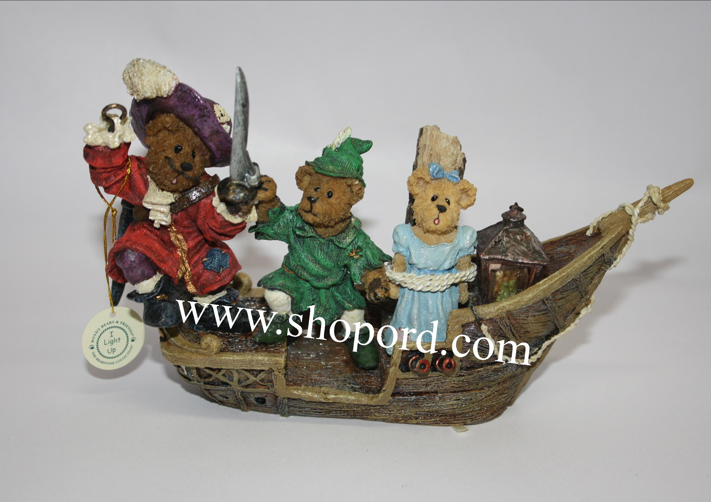 Boyds The Bearstone Collection - Hook, Peter, Wendy & Tink (The Resue) #227811