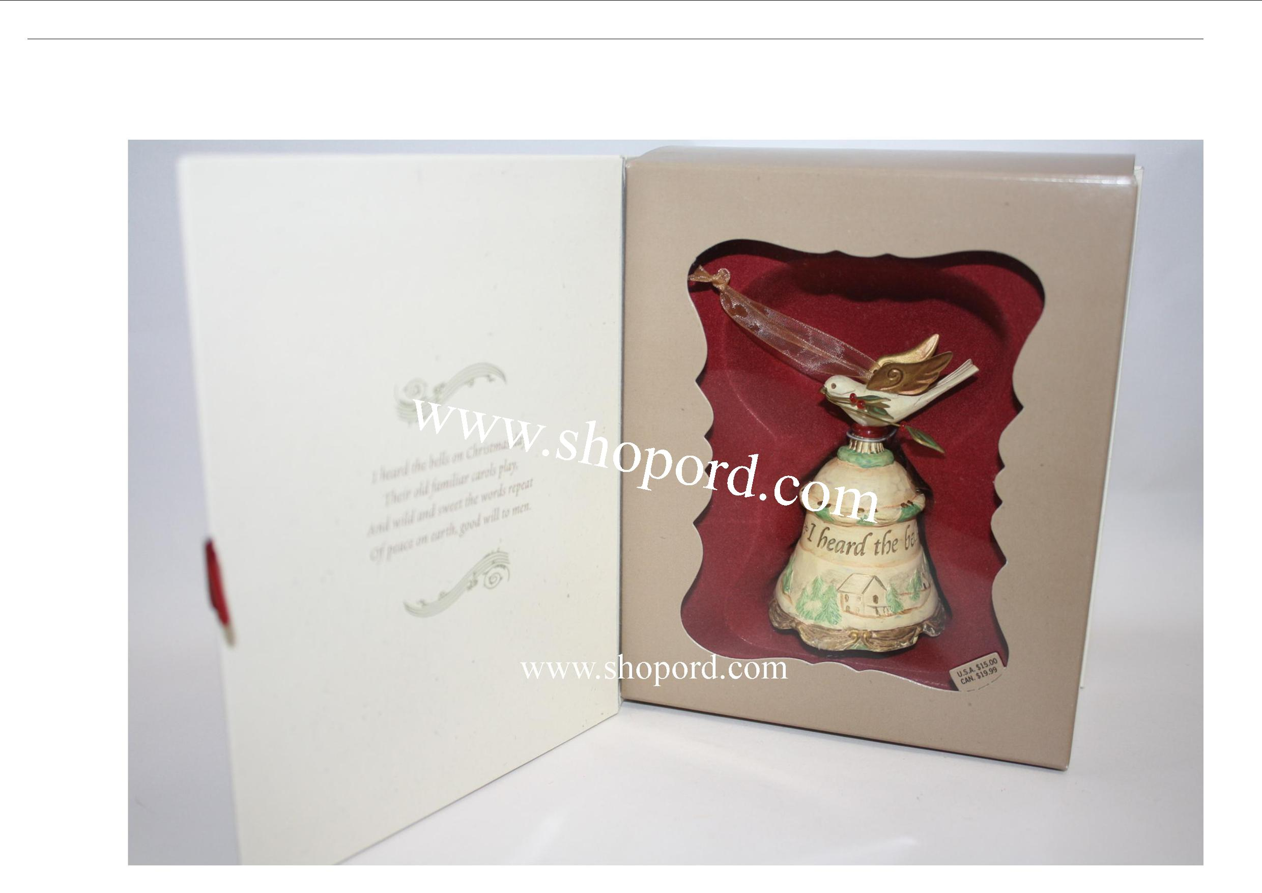 Hallmark 2006 I Heard the Bells on Christmas Day Ornament QP1136