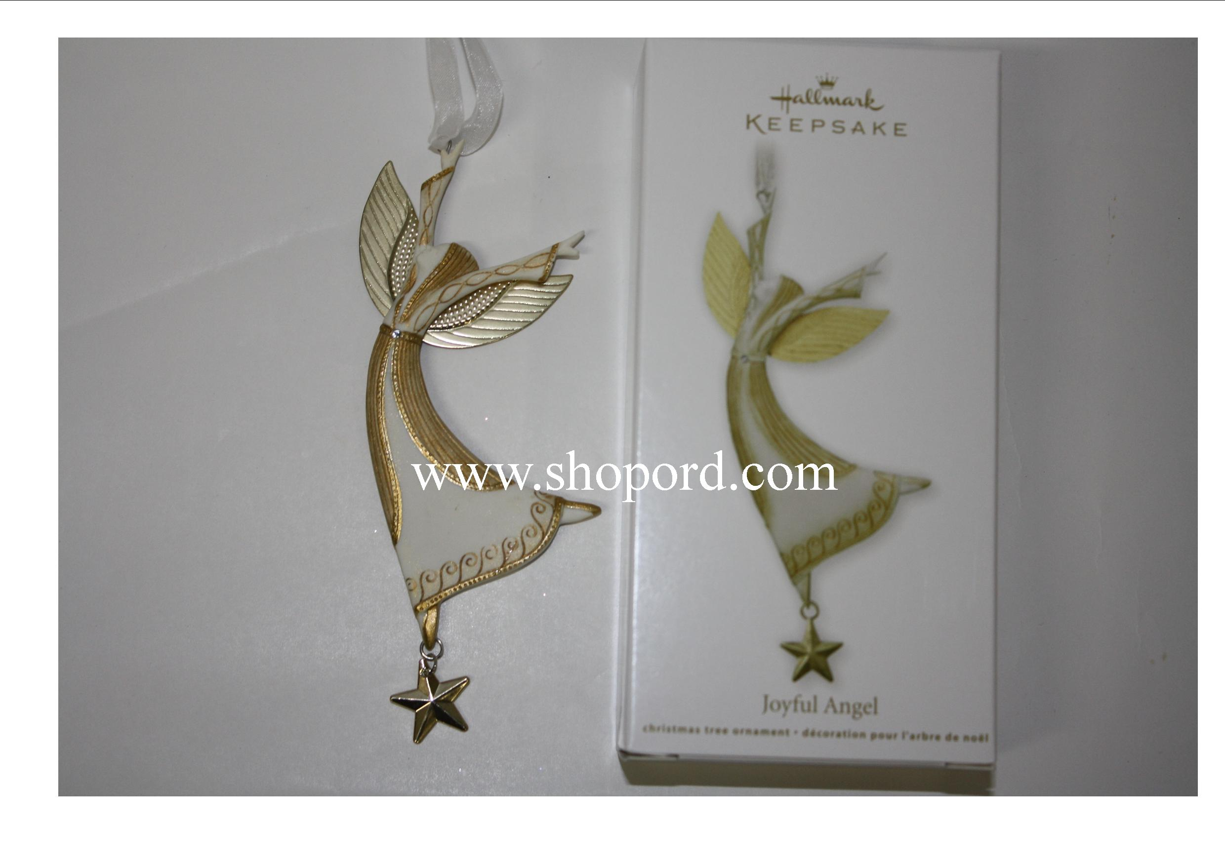 Hallmark 2011 Joyful Angel Ornament Damaged Box QXG3509