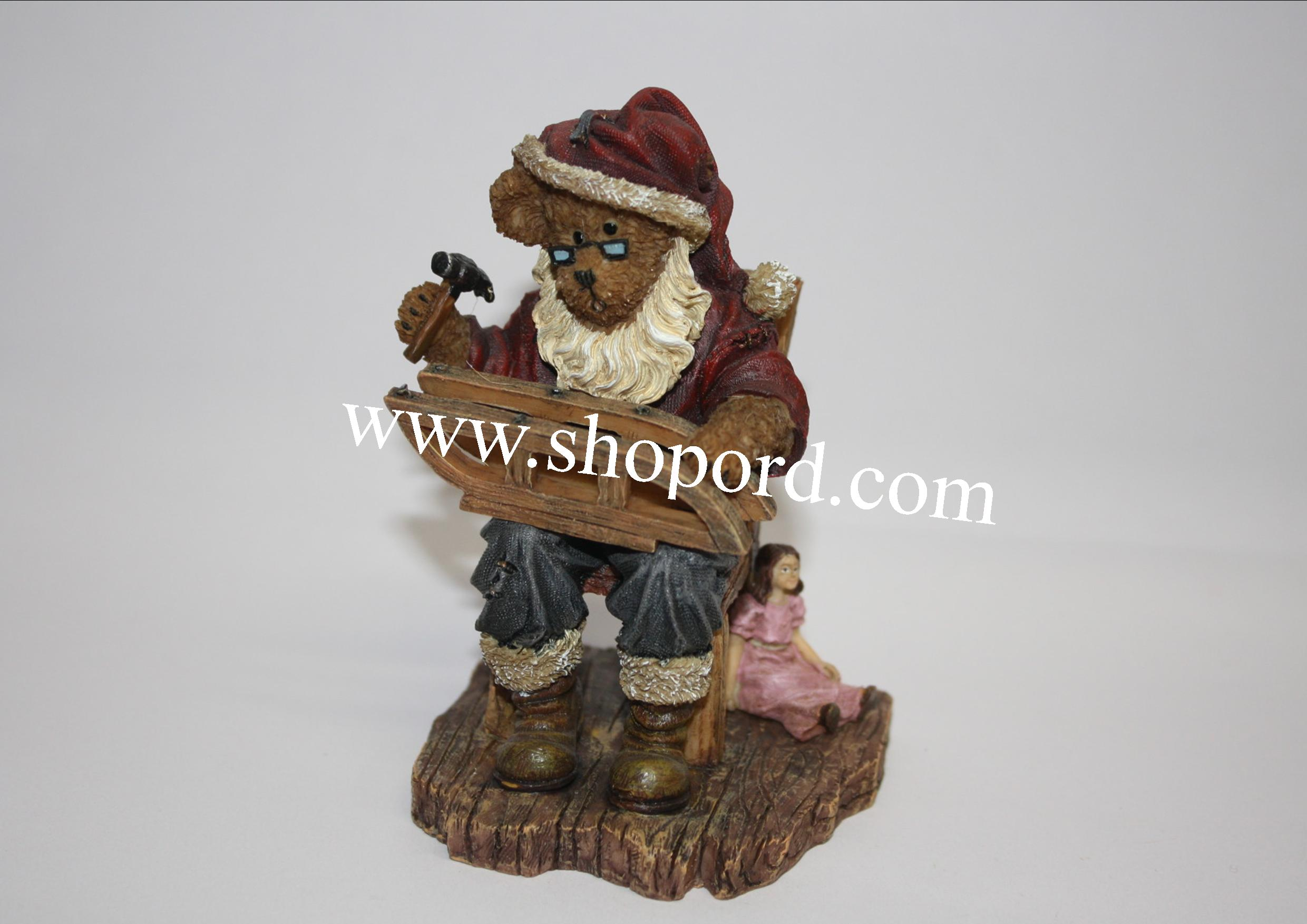 Boyds The Bearstone Collection - Kringlebeary Claus (North Pole Repair Shop) #4022276