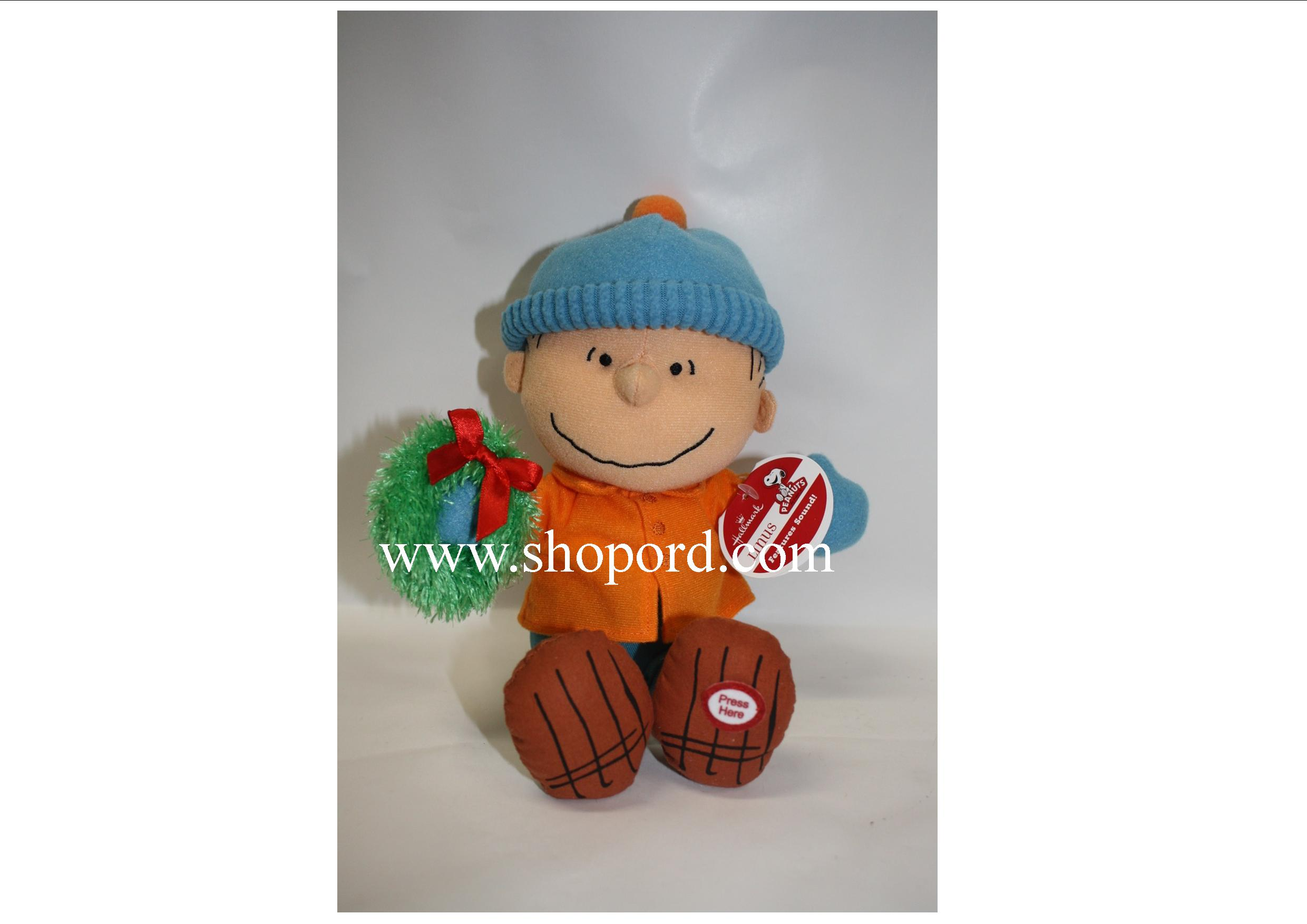"Hallmark 2011 The Peanuts Gang Linus Features Sound 8.5"" Plush XKT5001"