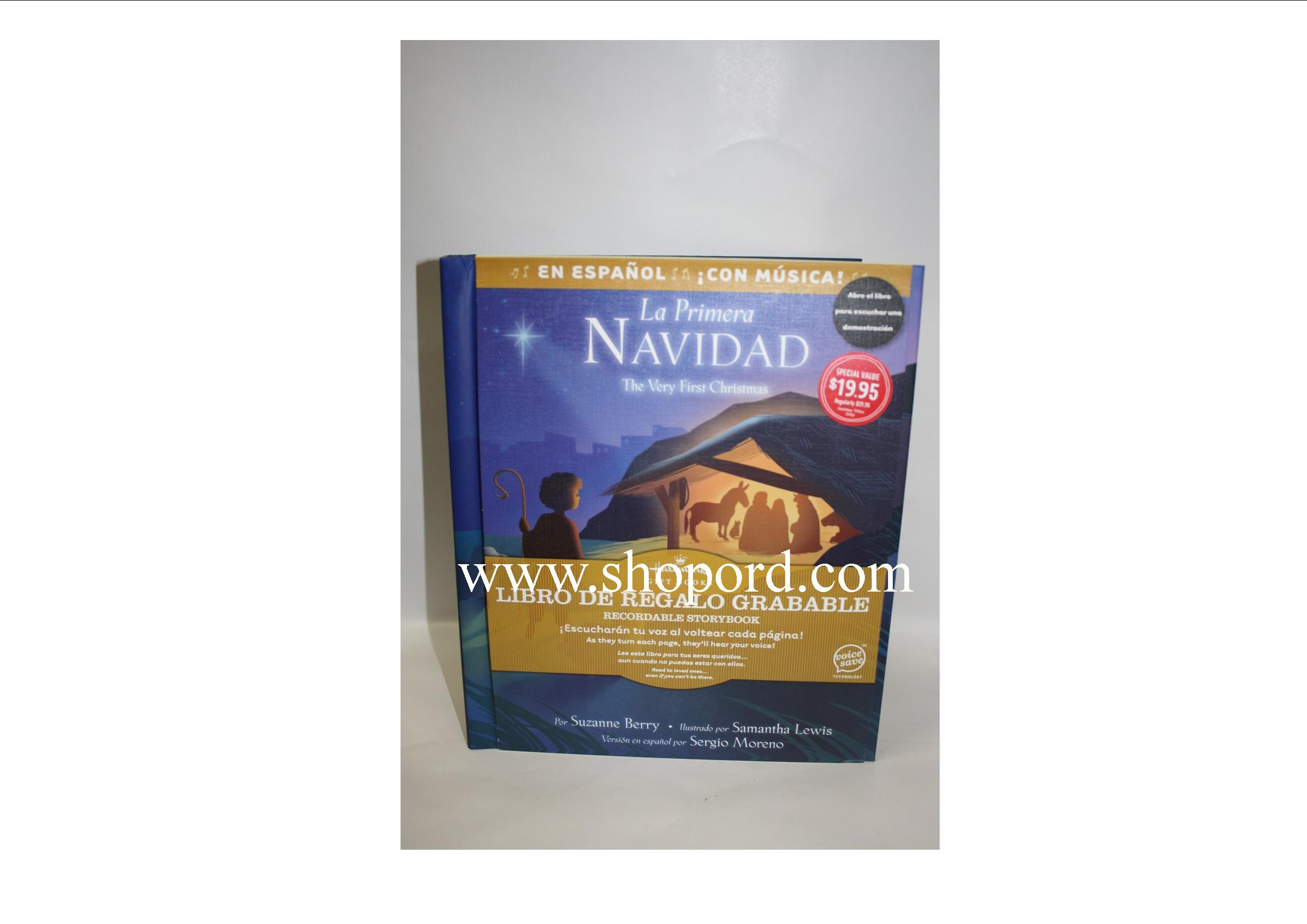 Hallmark 2011 La Primera Navidad The Very First Christmas Recordable Storybook KOB9030