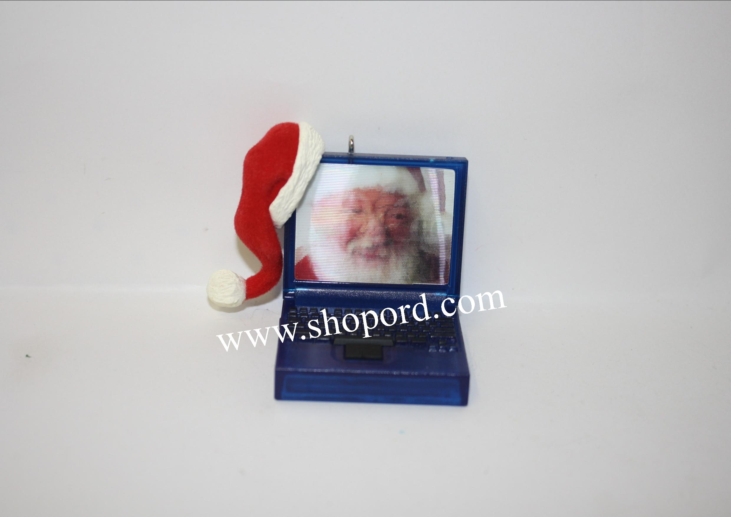 Hallmark 2001 Laptop Santa Ornament QX8972
