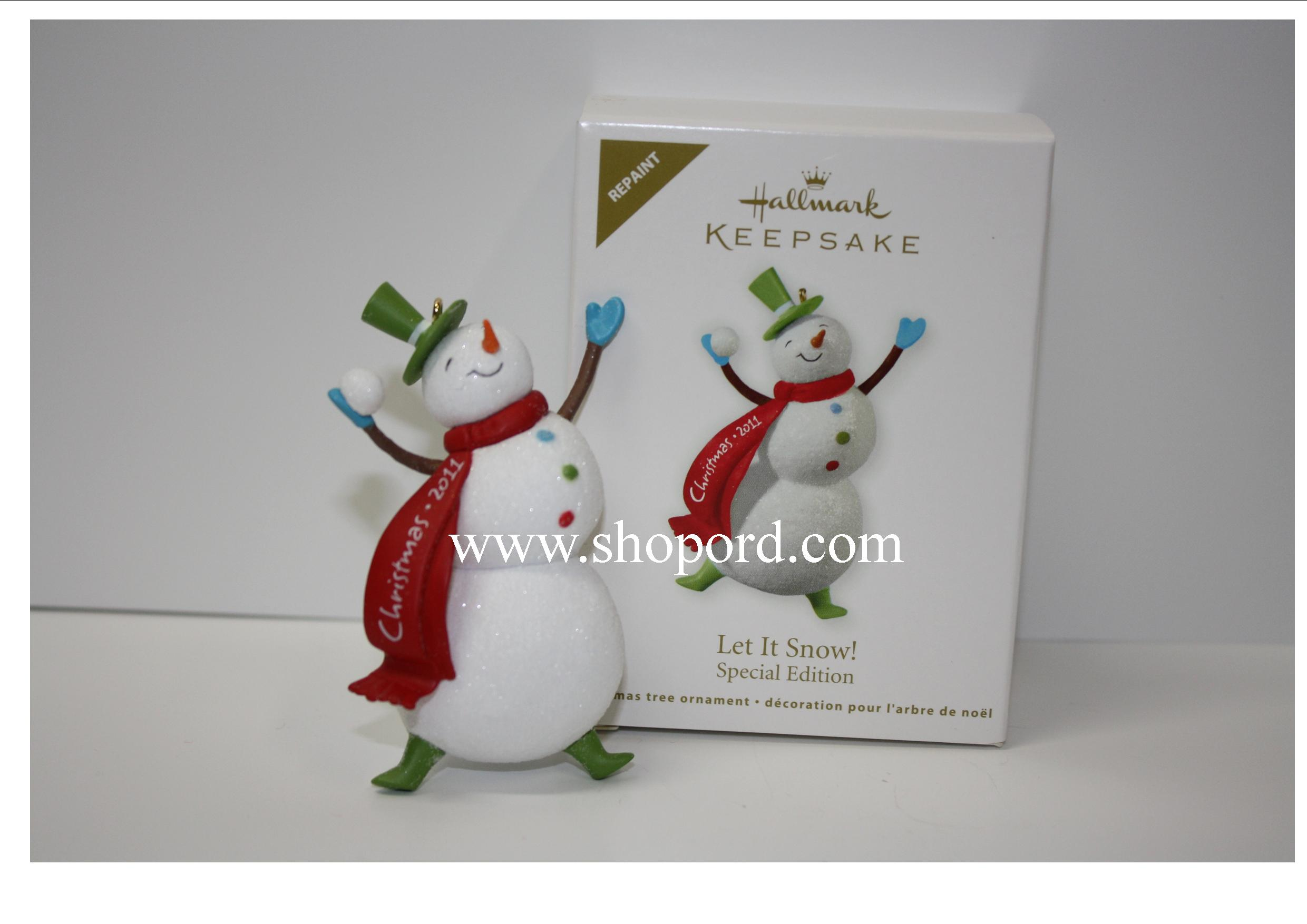Hallmark 2011 Let It Snow Ornament Repaint Special Edition LPR3459