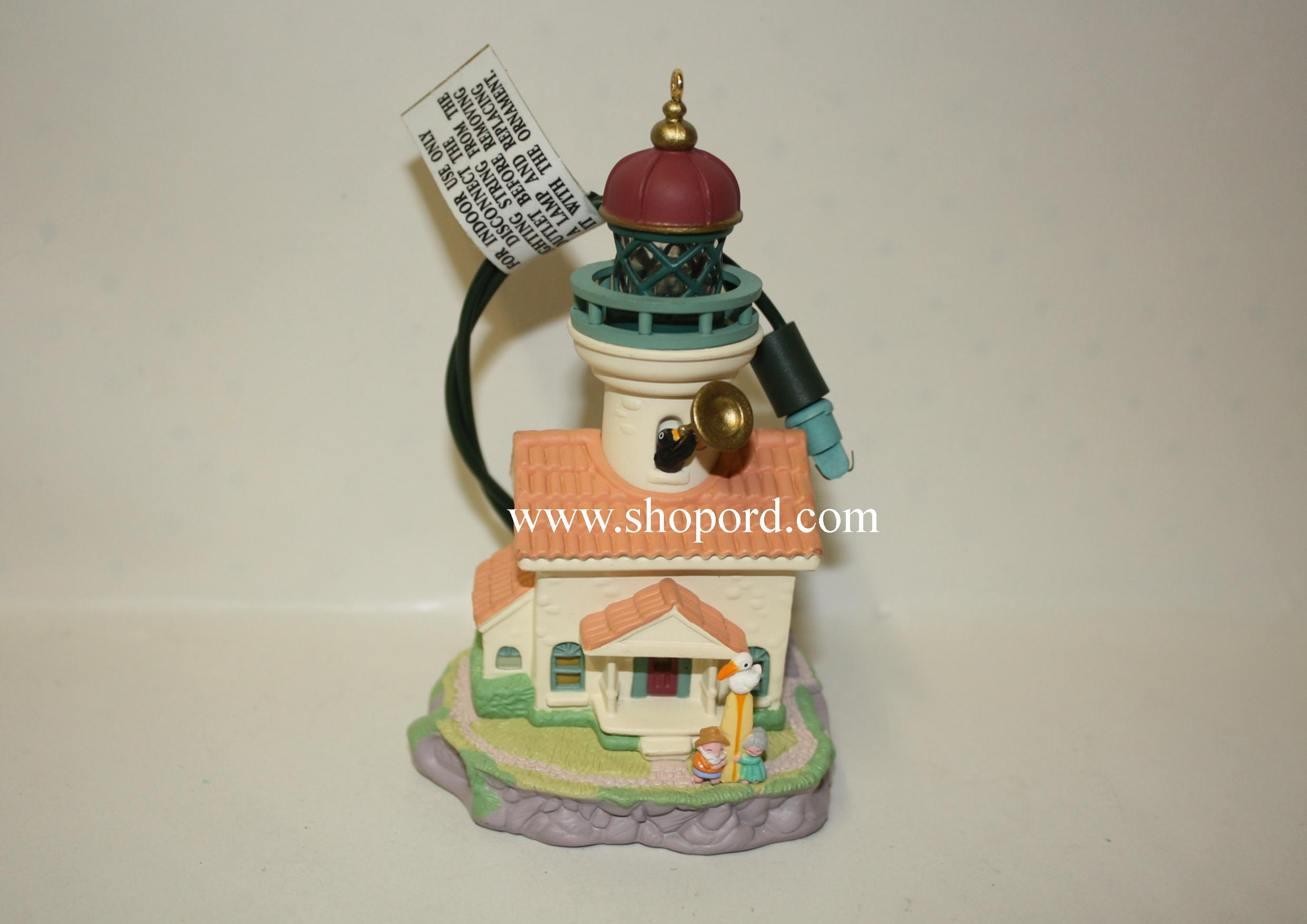 Hallmark 1998 Lighthouse Greetings Ornament 2nd In The Series QLX7536