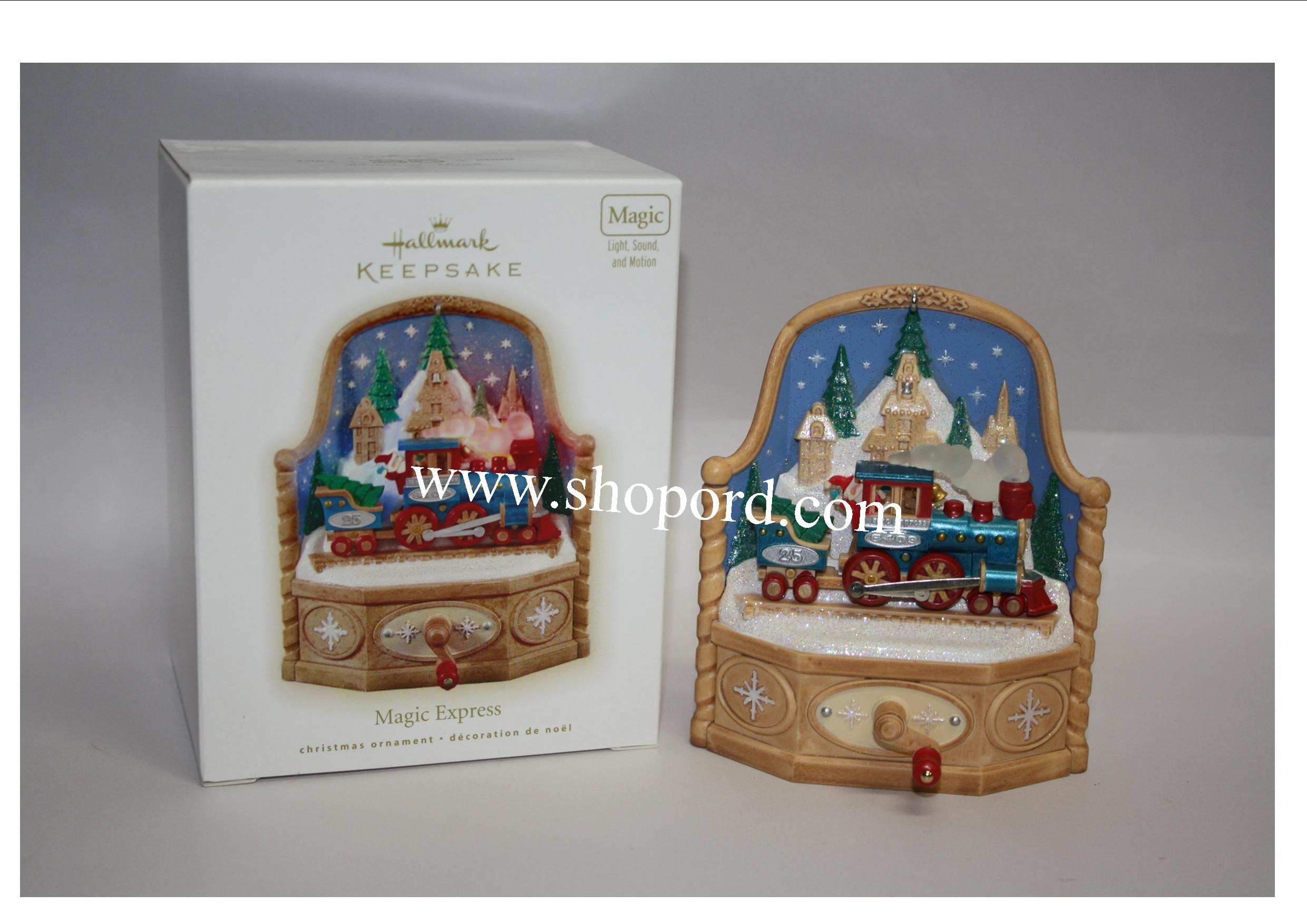Hallmark 2009 Magic Express Ornament QXG6582 Damaged Box