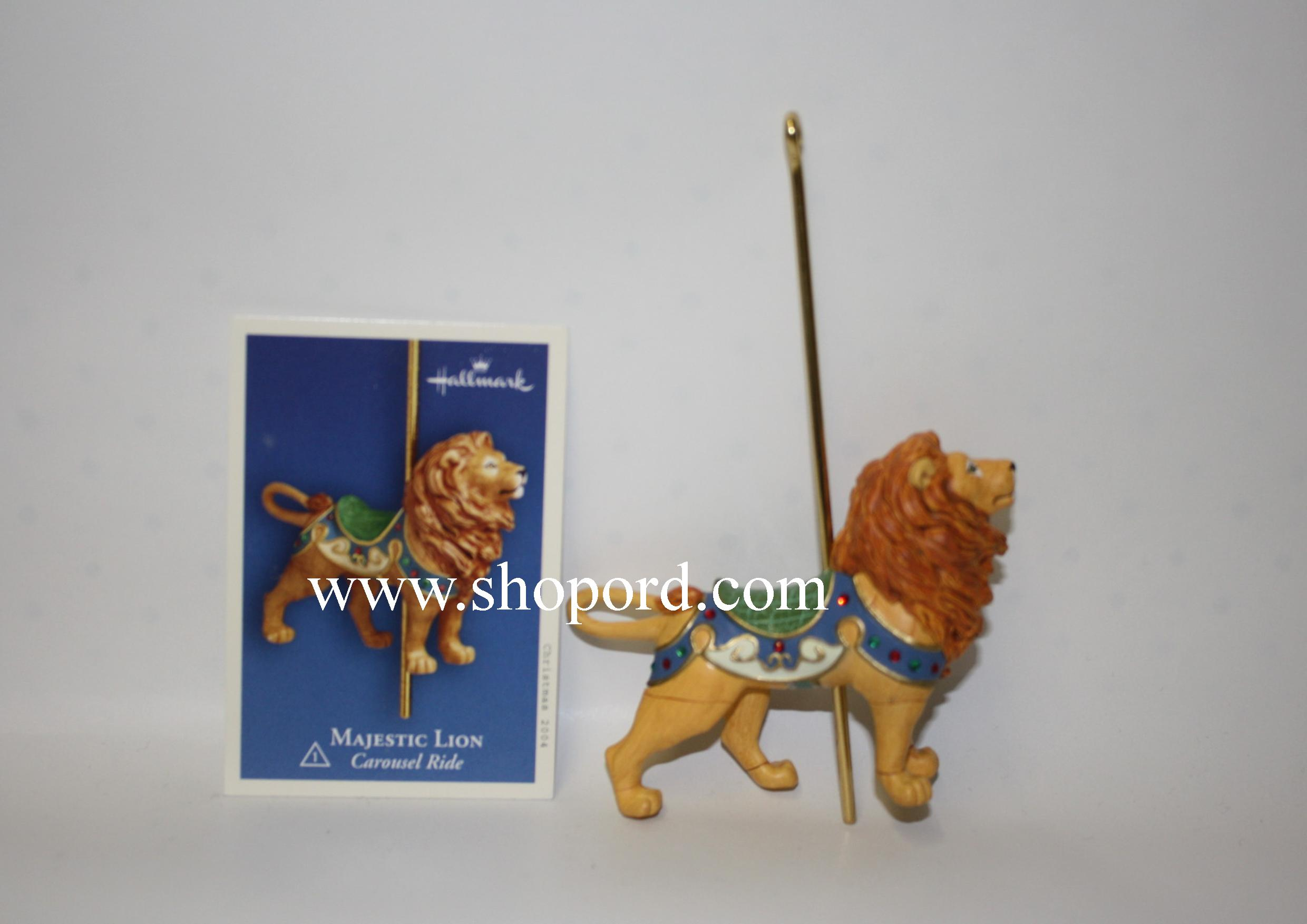 Hallmark 2004 Majestic Lion 1st in the Carousel Ride series QX8464
