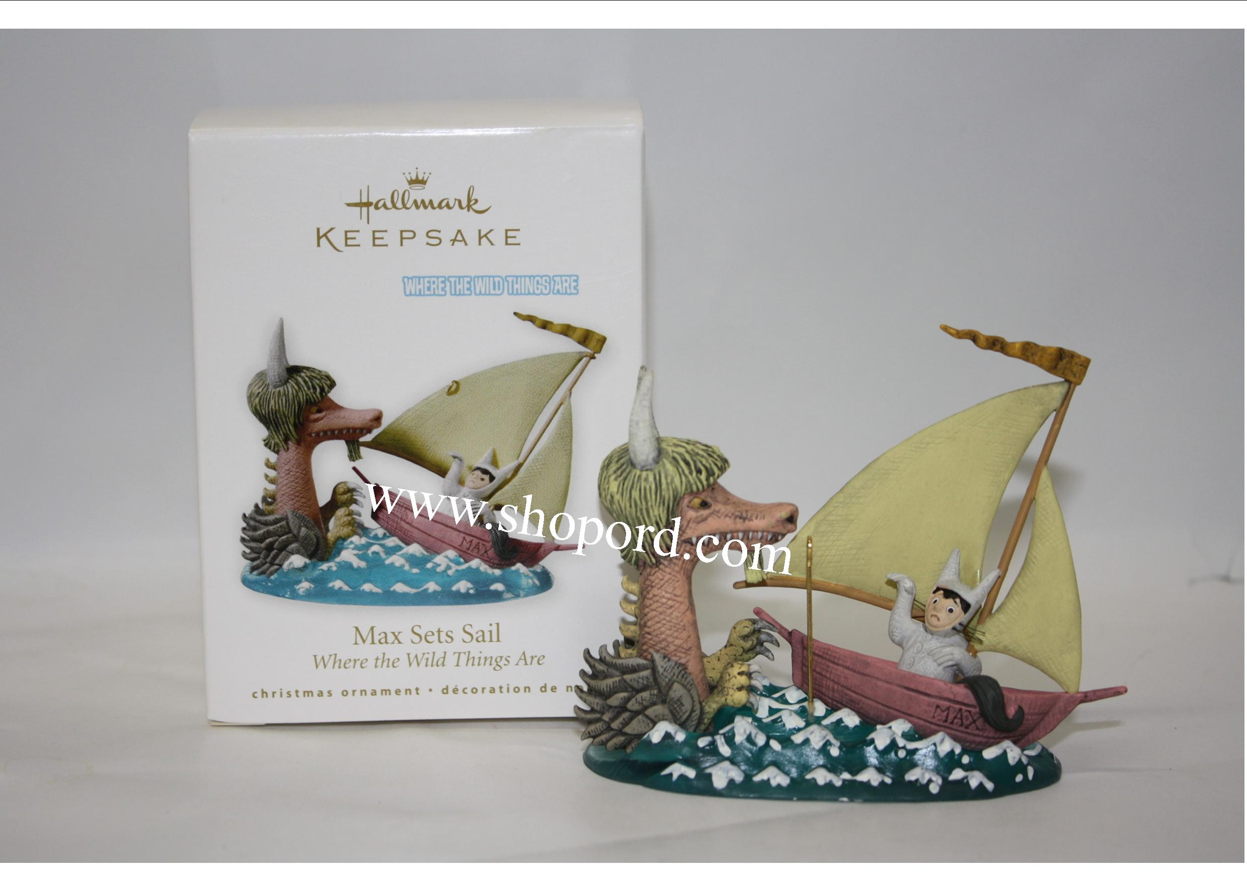 Hallmark 2010 Max Sets Sail Where the Wild Things Are Ornament QXI2083