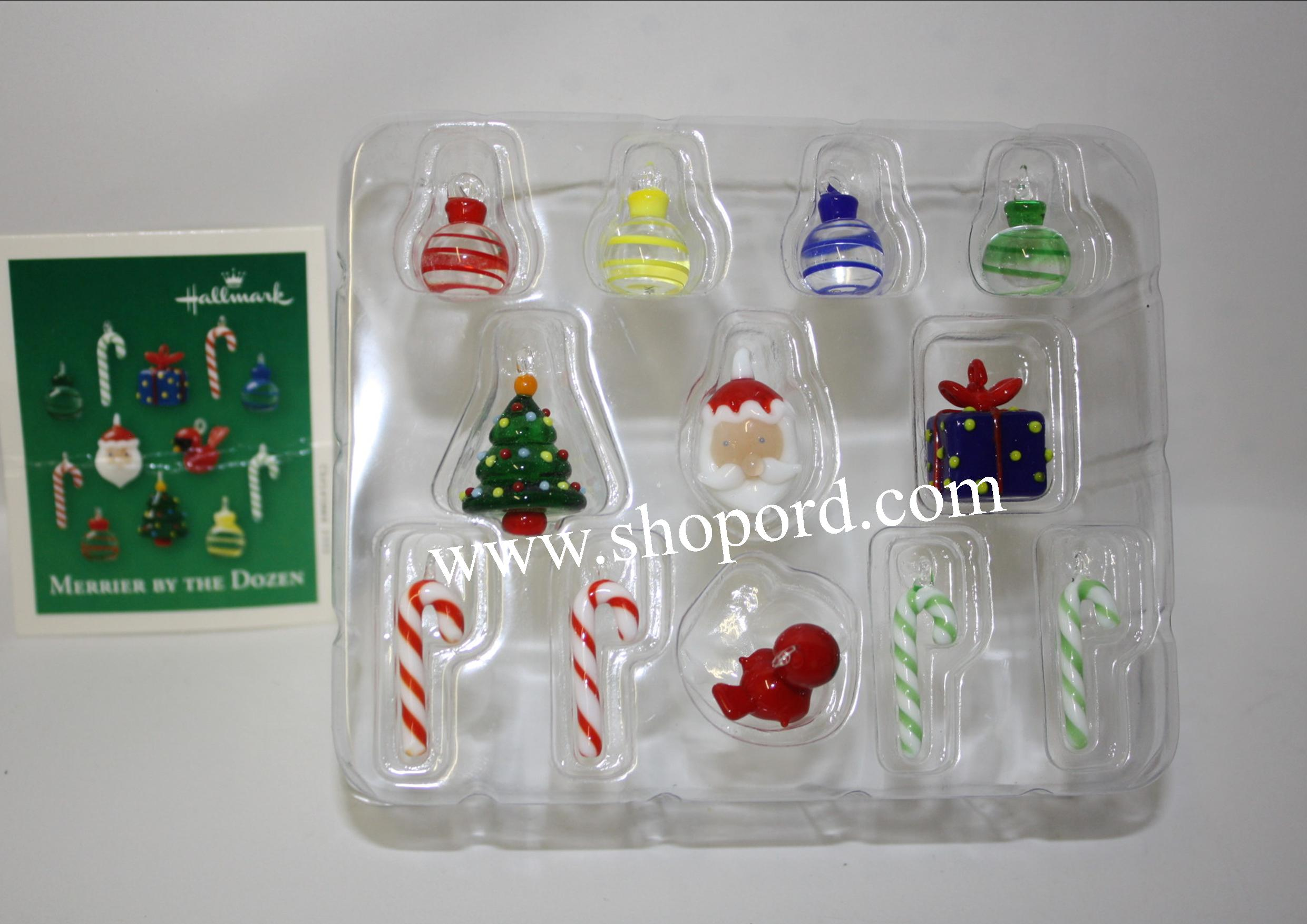 Hallmark 2003 Merrier By The Dozen Miniature Ornament set of 12 QXM5049