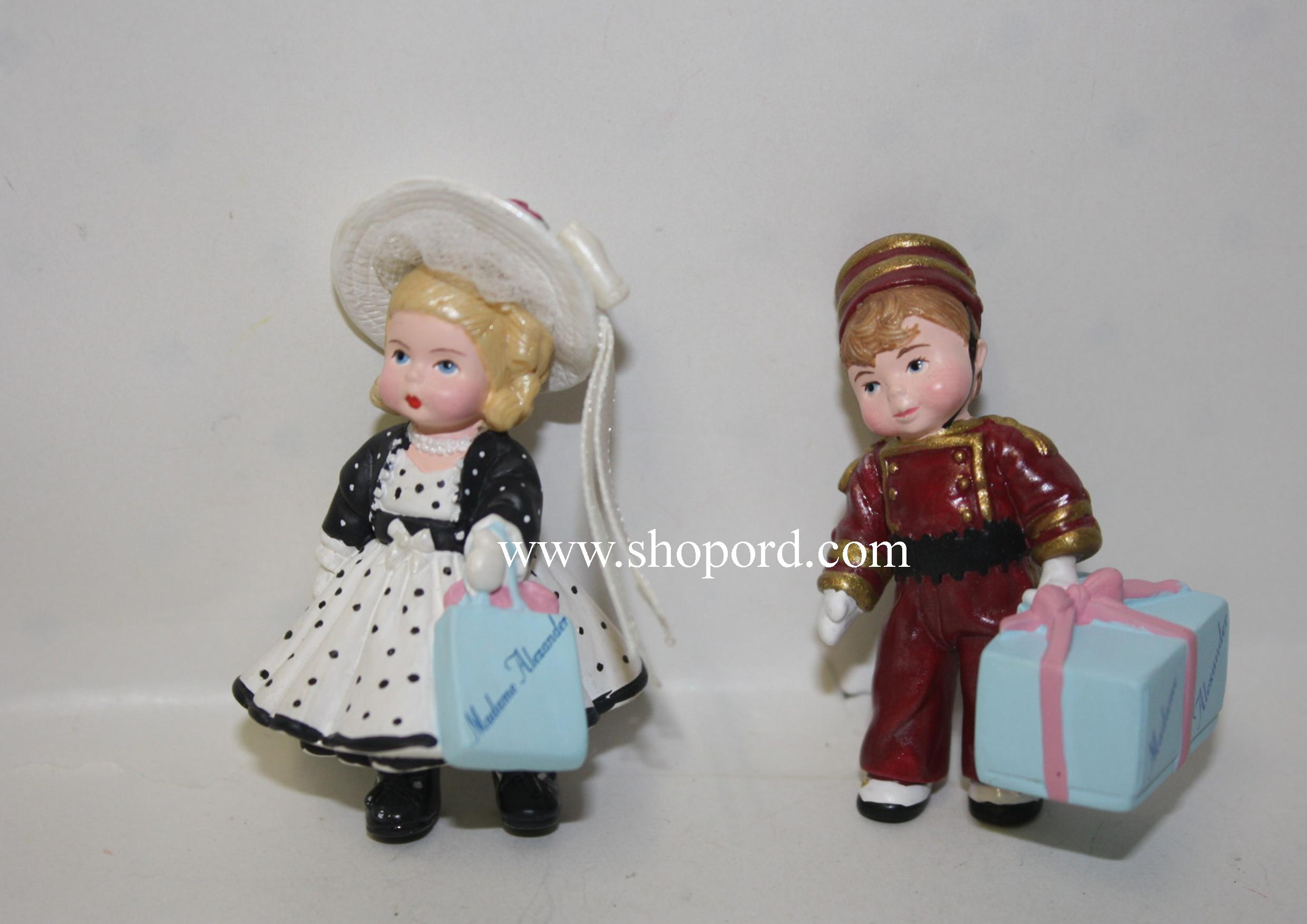 Hallmark 1999 Merry Miniatures Park Avenue Wendy And Alex The Bellhop Set of 2 Figurines Madame Alexander QFM8499