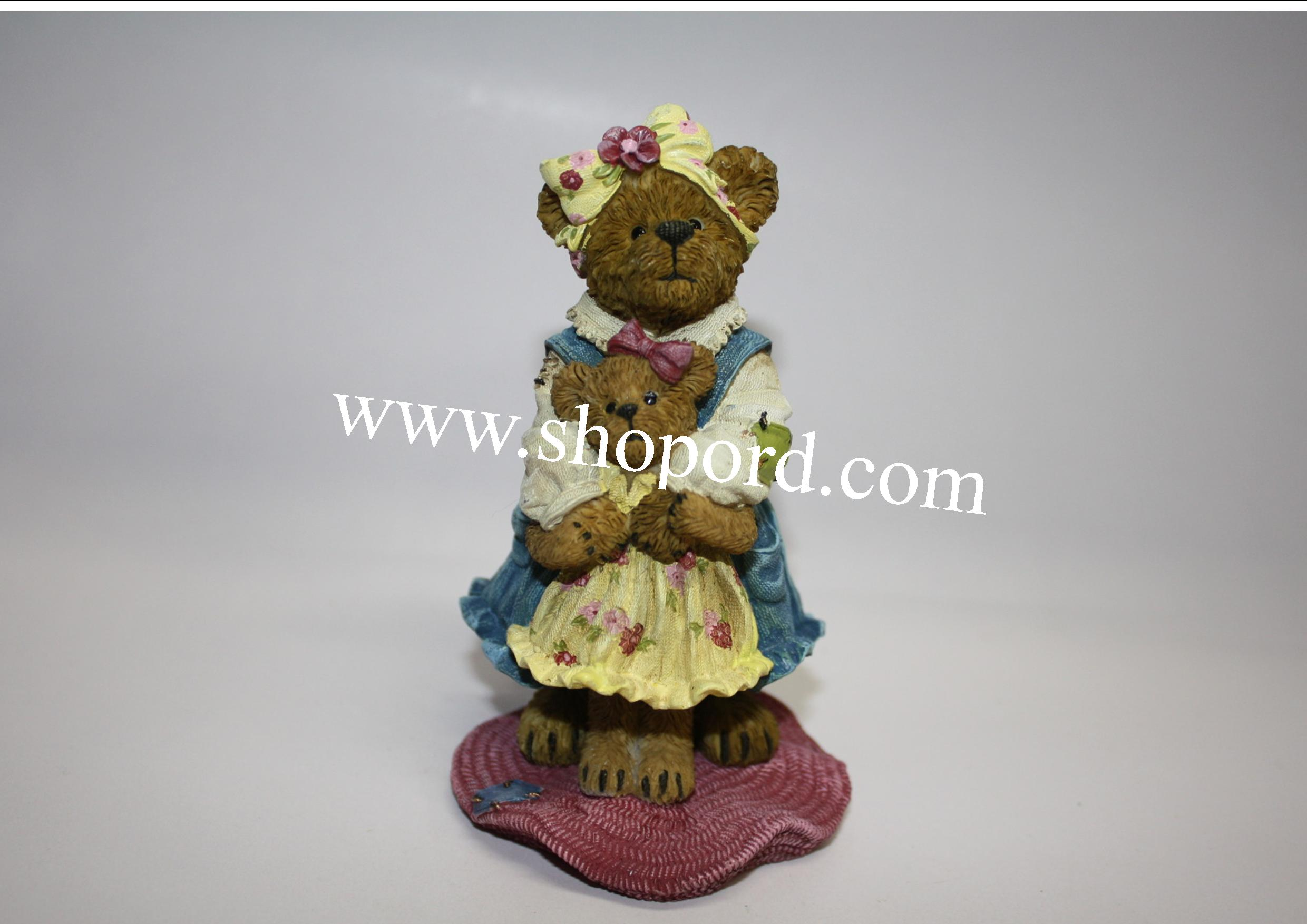 Boyds The Bearstone Collection - Momma McPetal with Lil Posey #4033639