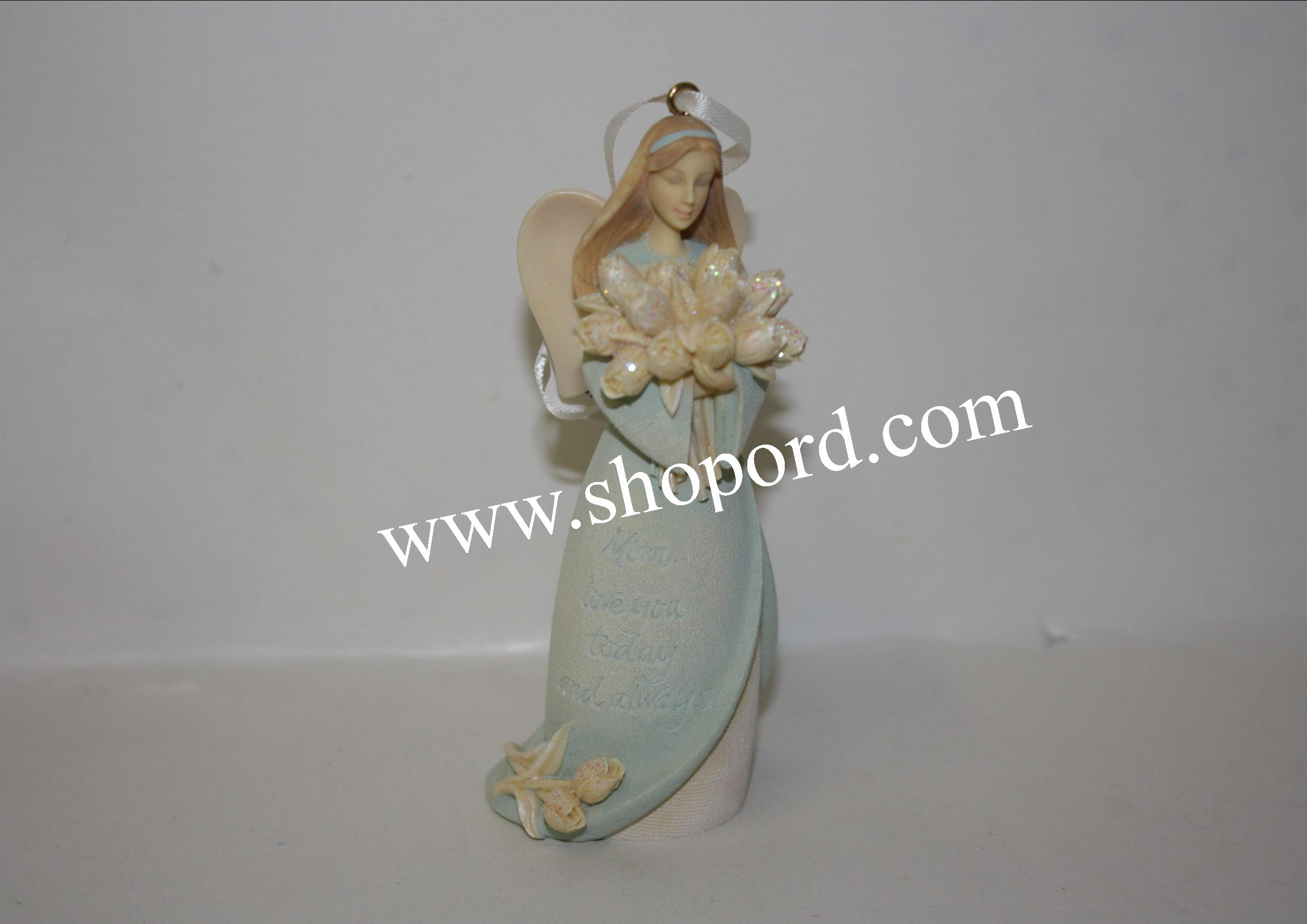 Enesco Foundations Mother Hanging Angel Ornament 4054838