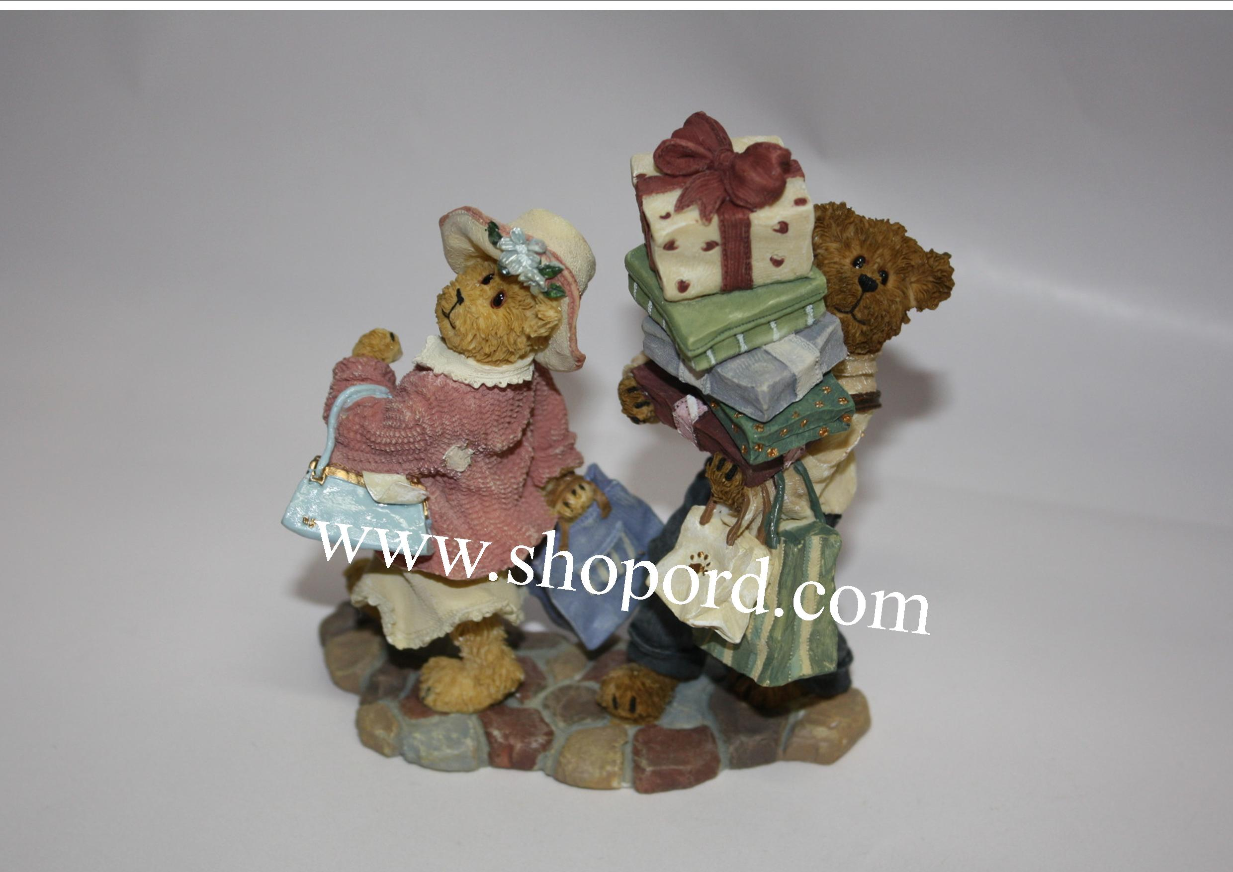 Boyds The Bearstone Collection - Ms. Shopsalot with Schlepper (Just One More Stop) #2277990