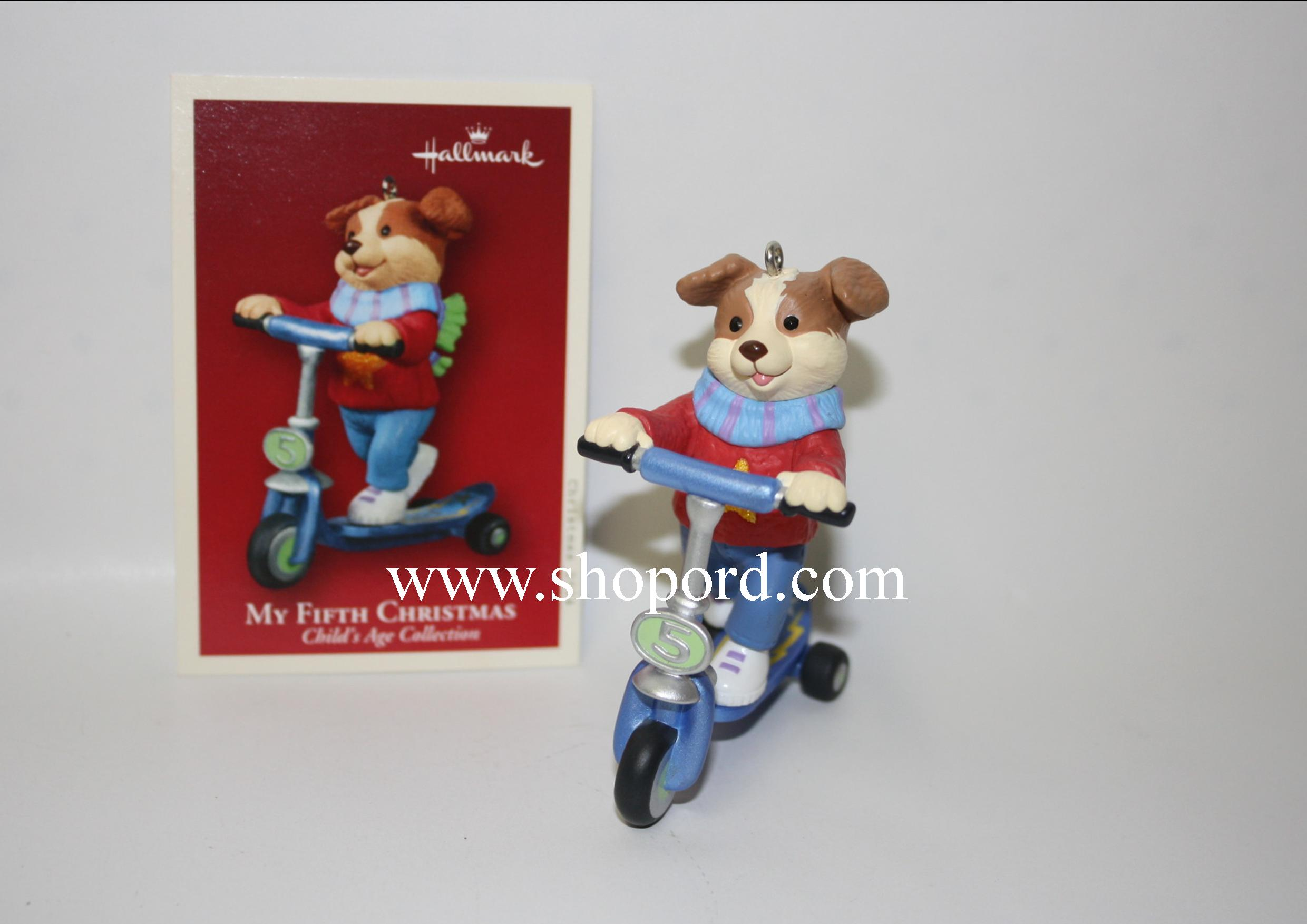 Hallmark 2004 My Fifth Christmas Childs Age Collection Boy Ornament QXG5701