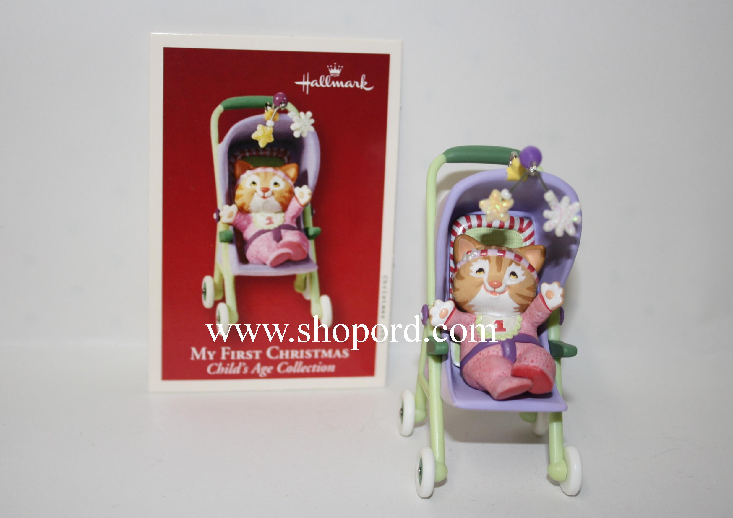 Hallmark 2003 My First Christmas Ornament Childs Age Collection Girl QXG2487