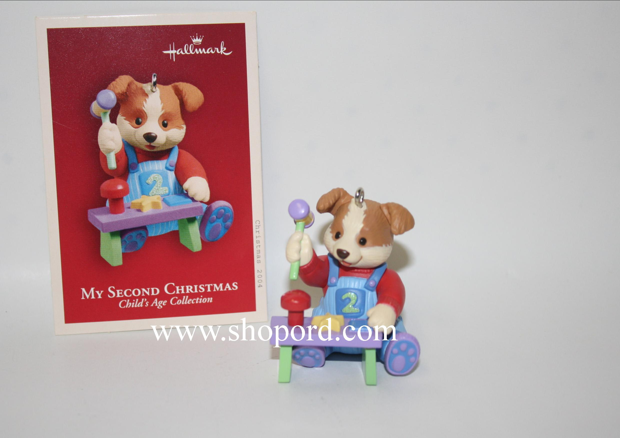 Hallmark 2004 My Second Christmas Childs Age Collection Boy Ornament QXG5664