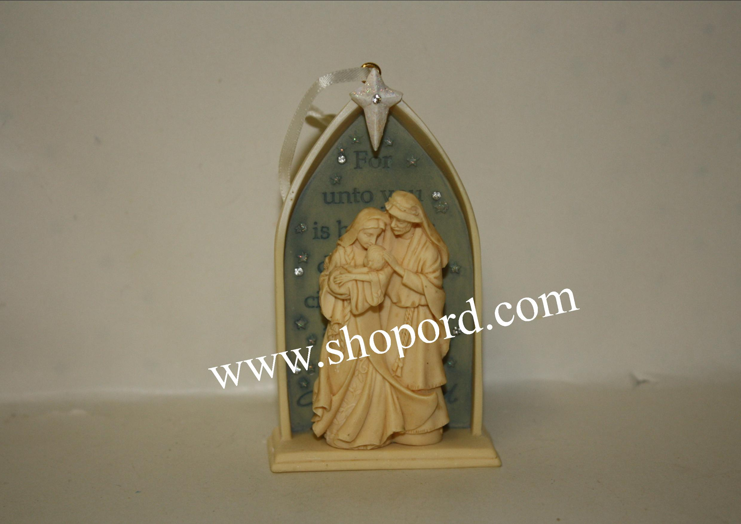 Enesco Foundations Nativity Hanging Ornament 4053532
