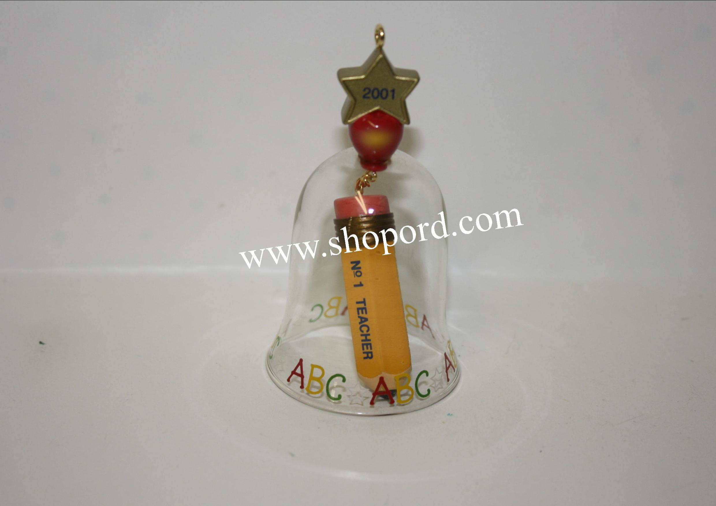 Hallmark 2001 No 1 Teacher Ornament Bell QX2865