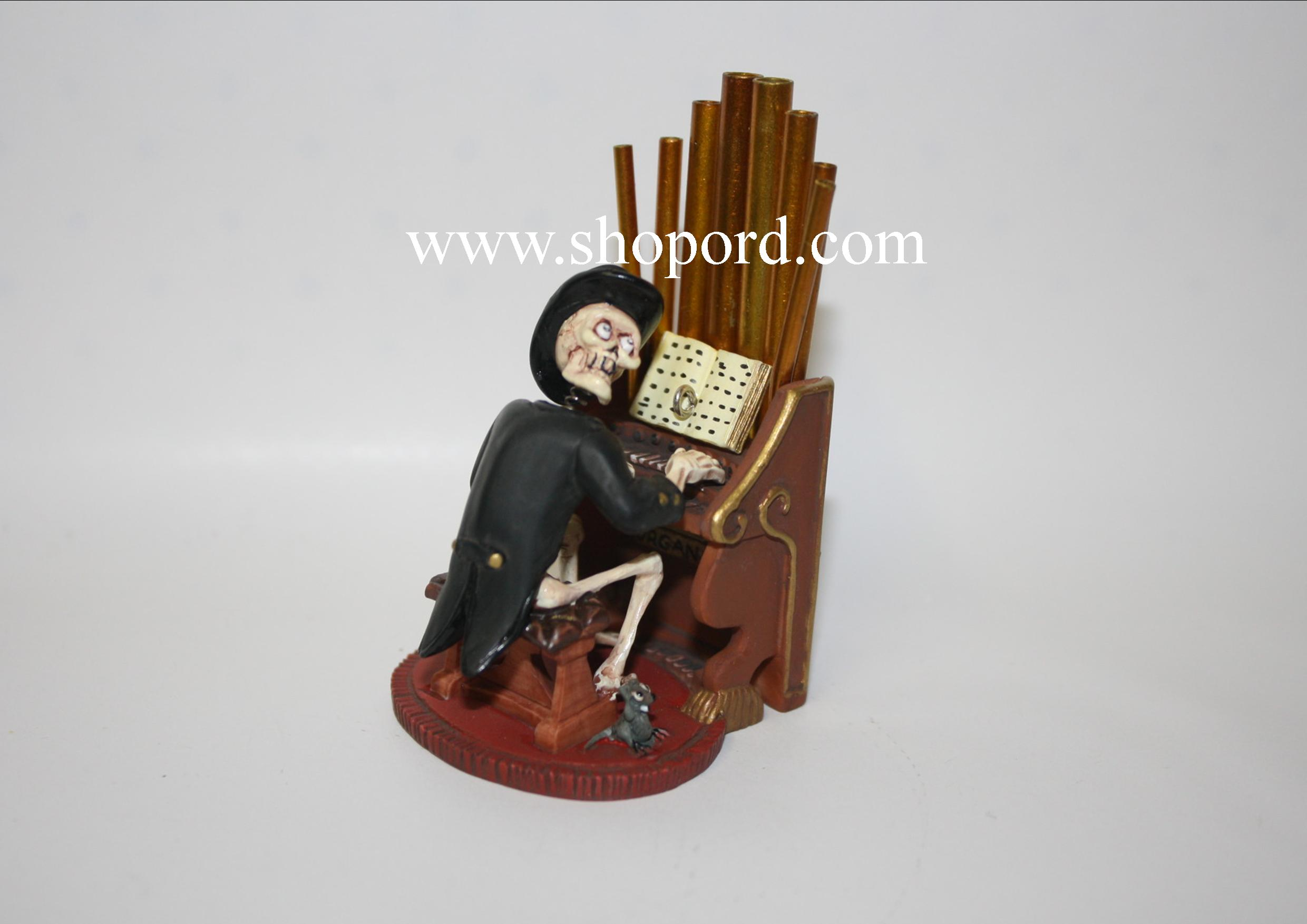 Hallmark 2004 Old Ned The Musician Mansion On Ravenwood Lane Halloween Ornament QFO6034