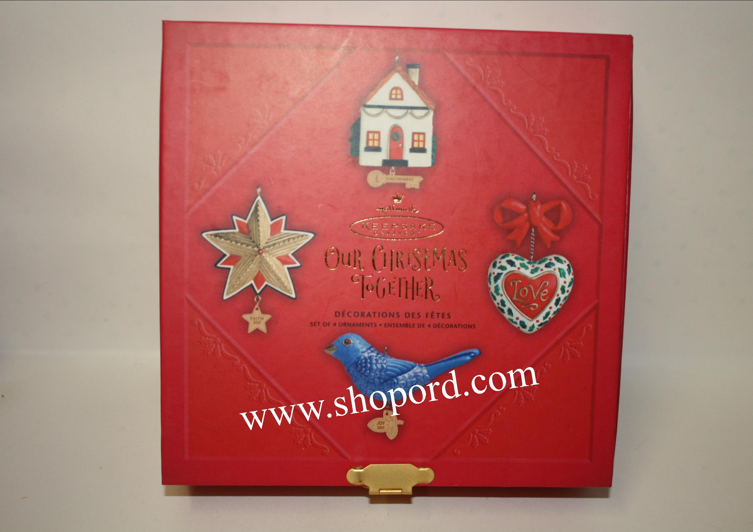 Hallmark 2001 Our Christmas Together Ornament Bird House Heart QX8412