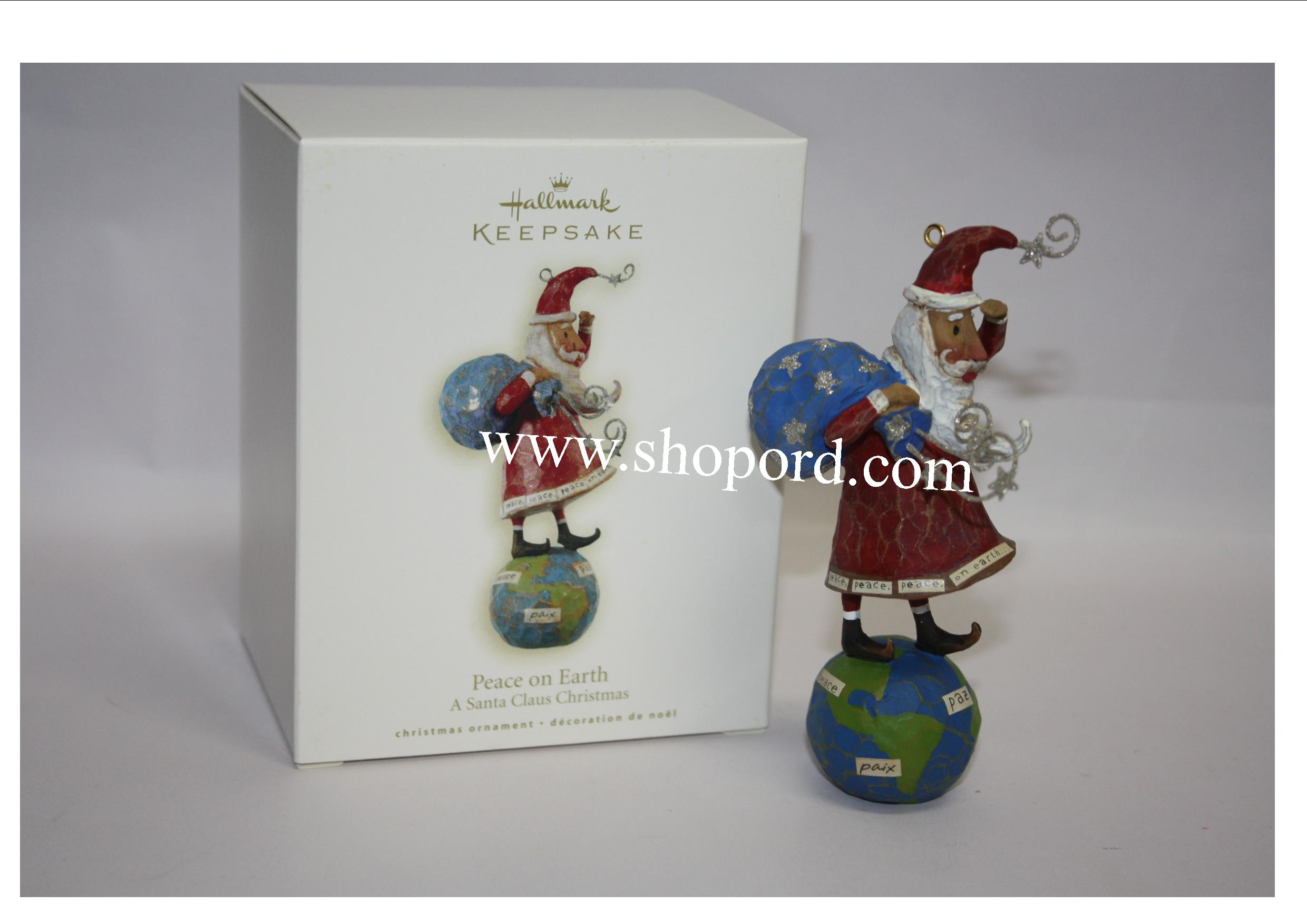 Hallmark 2008 Peace on Earth Ornament A Santa Claus Christmas QP1601