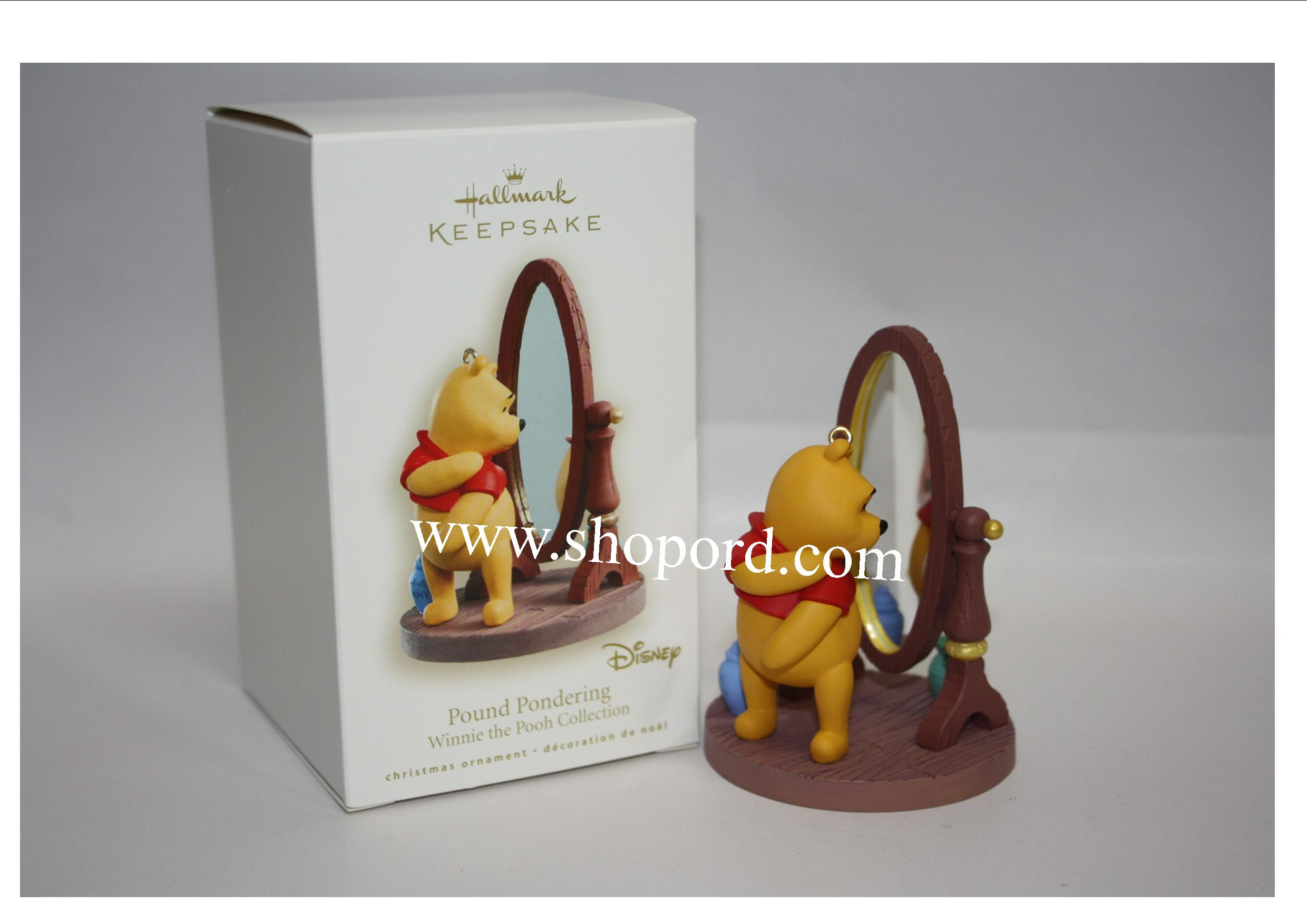 Hallmark 2008 Pound Pondering Ornament Winnie the Pooh Collection Disney QXD4094 Damaged Box