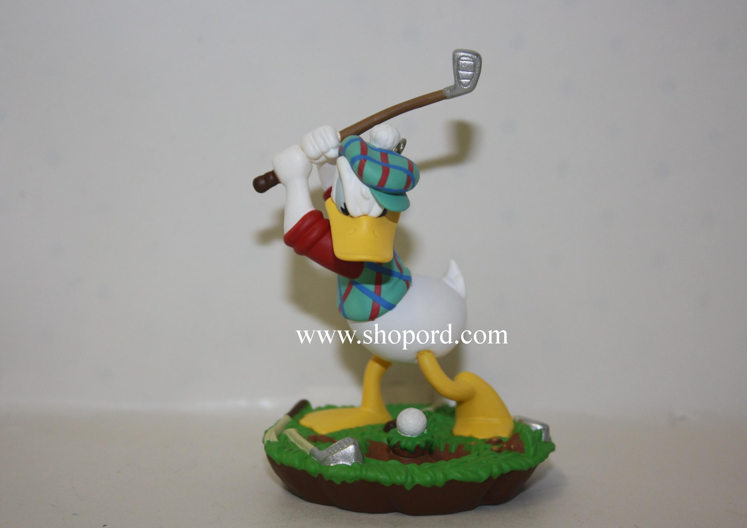 Hallmark 1998 Practice Swing Donald Duck Spring Ornament Mickey & Co QEO8396 Slightly Damaged Box