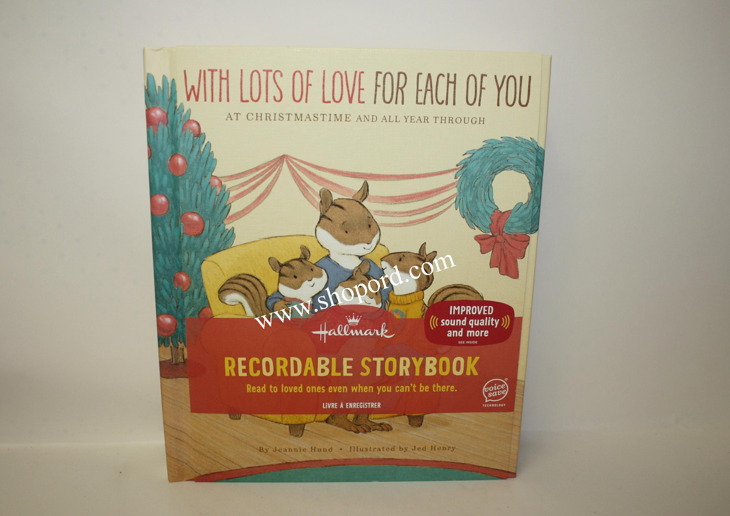 Hallmark Recordable Storybook With Lots Of Love For Each Of You At Christmas Time And All Year Through KOB8154