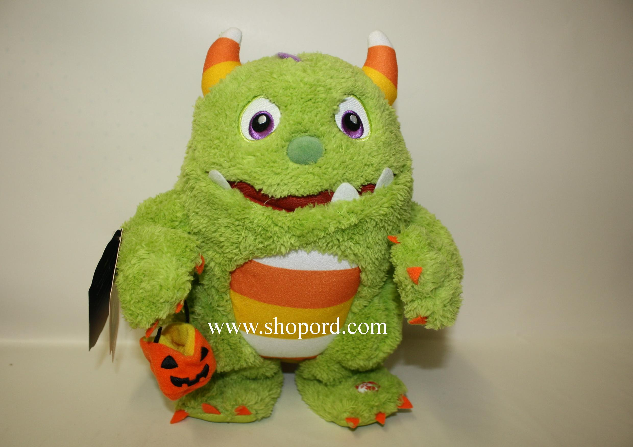 Hallmark Roary The Candy Monster Halloween Plush With Sound And Motion LPR1109